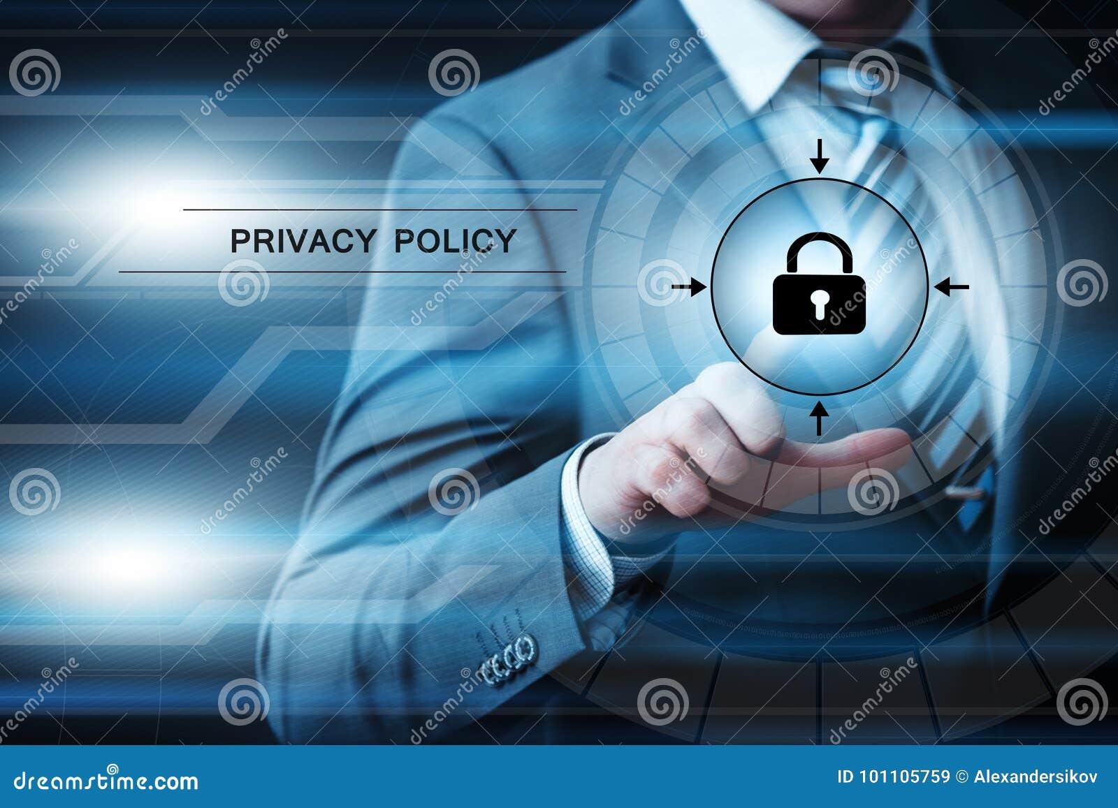 Begrepp för teknologi för internet för affär för säkerhet för Cyber för säkerhet för skydd för data för avskildhetspolitik