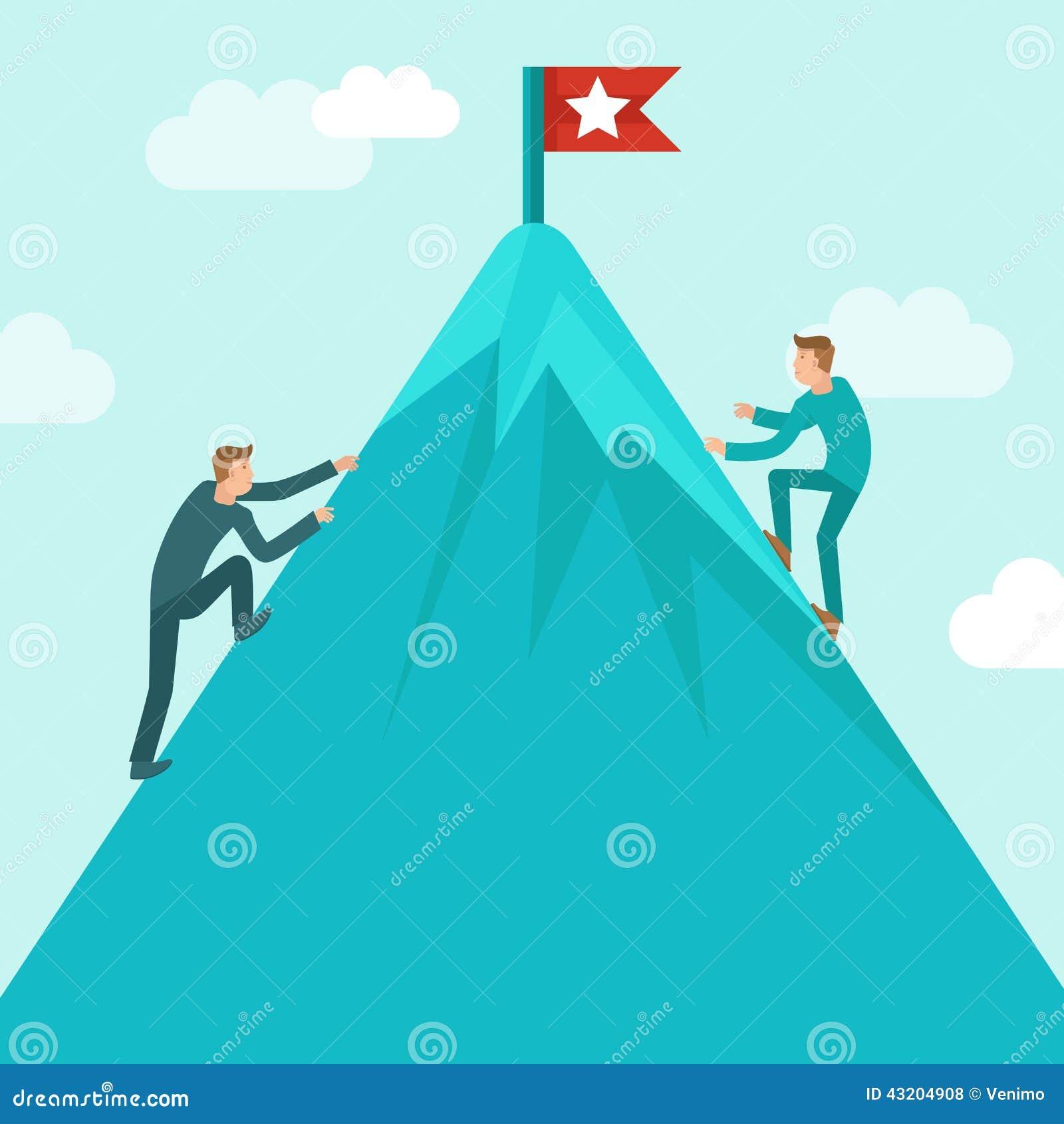 Download Begrepp För Vektoraffärskonkurrens I Plan Stil Vektor Illustrationer - Illustration av flagga, konkurrens: 43204908