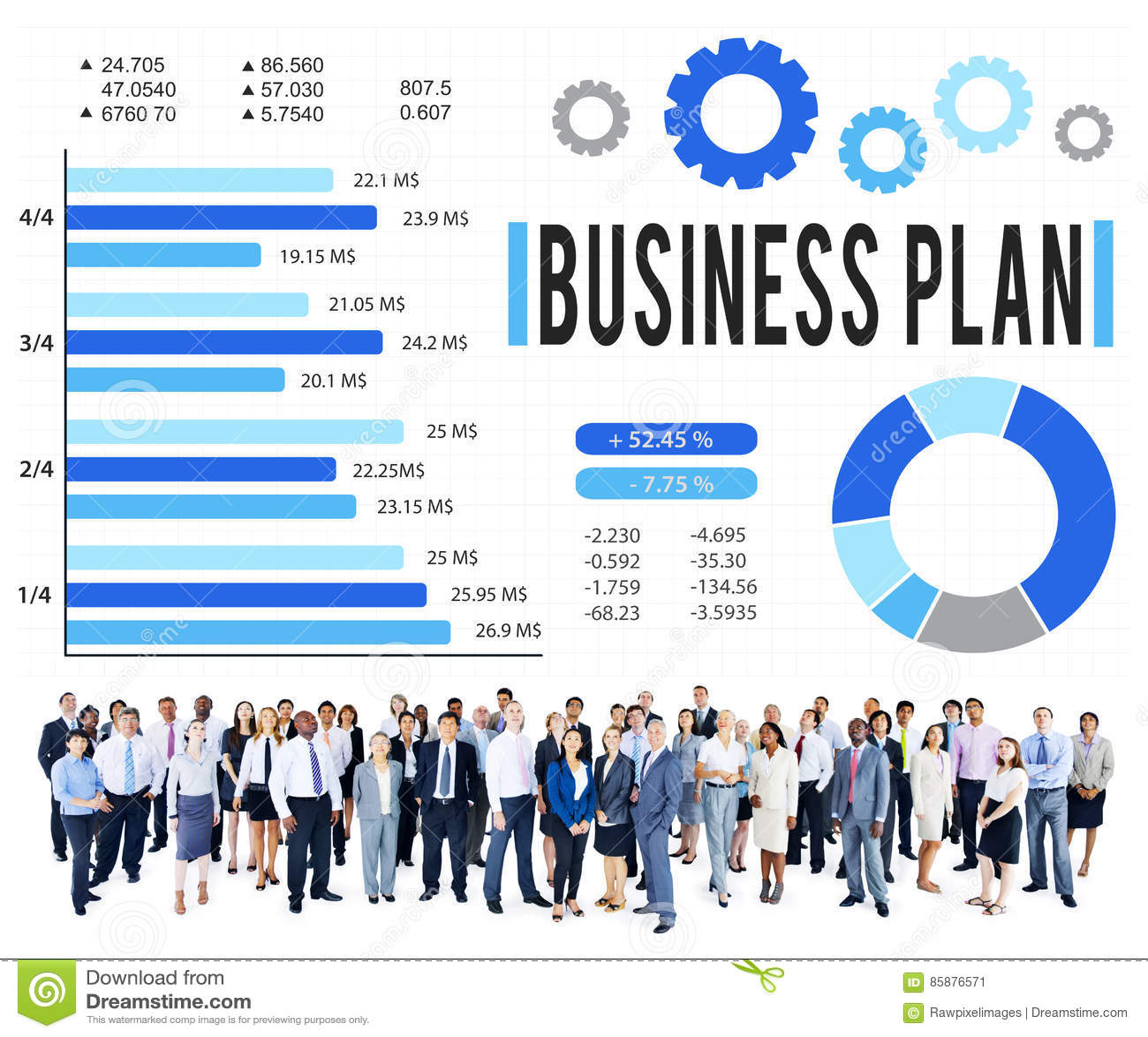 Begrepp för vision för planläggning för strategi för affärsplan