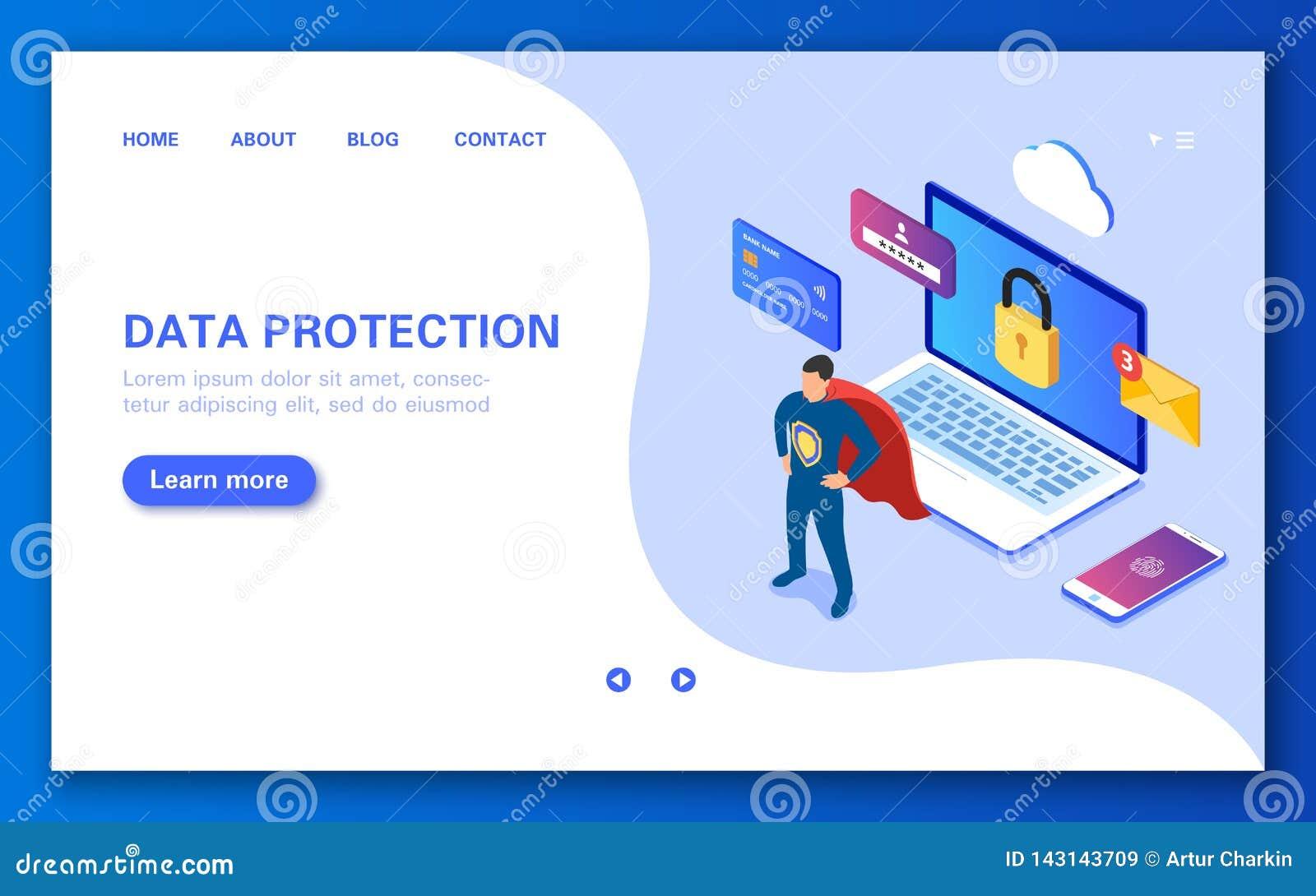 Begreppet av dataskydd Säker online-shopping, sms, personliga data och surfa för internet
