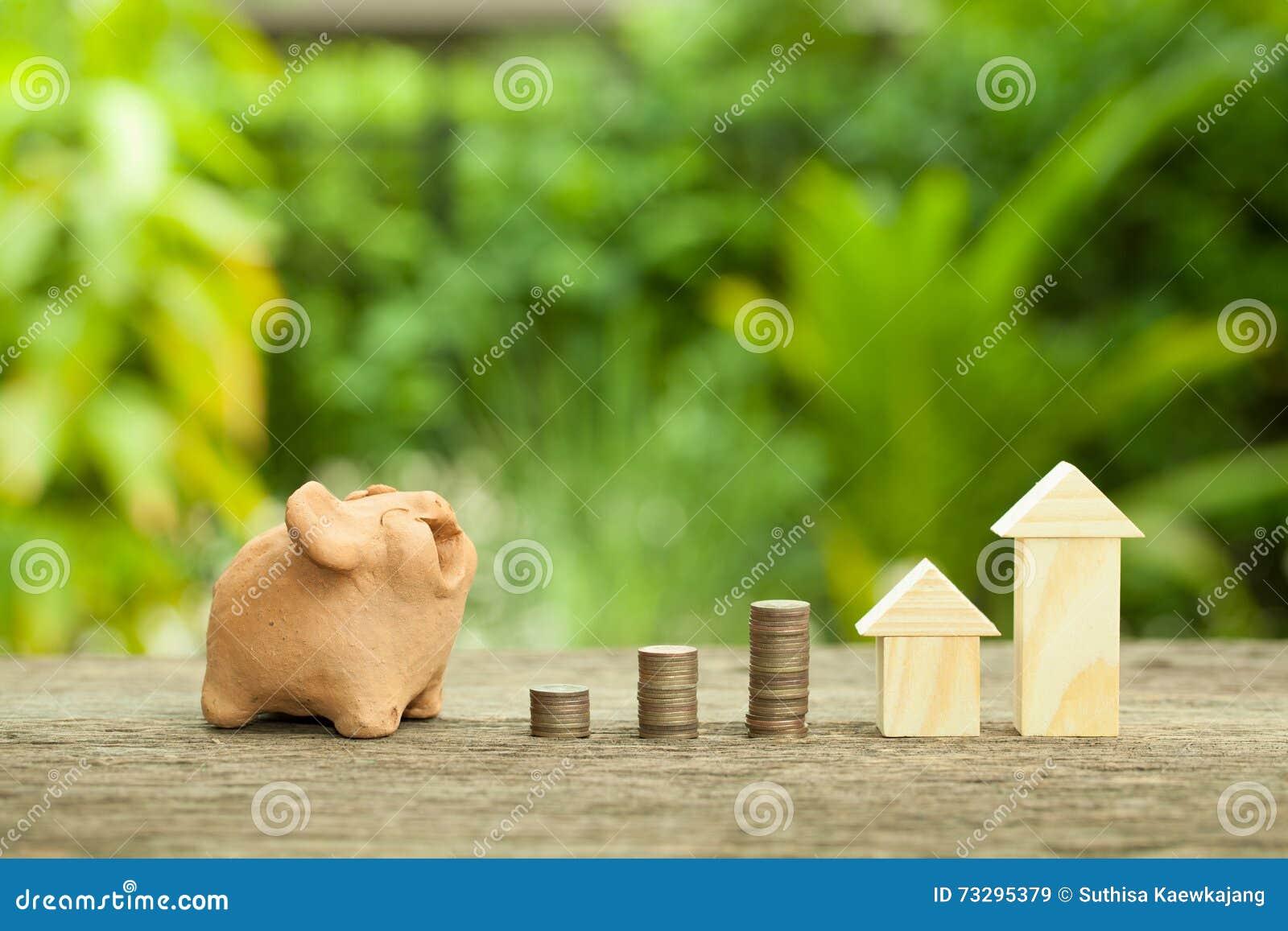 Begreppet av finansiella besparingar som köper ett hus