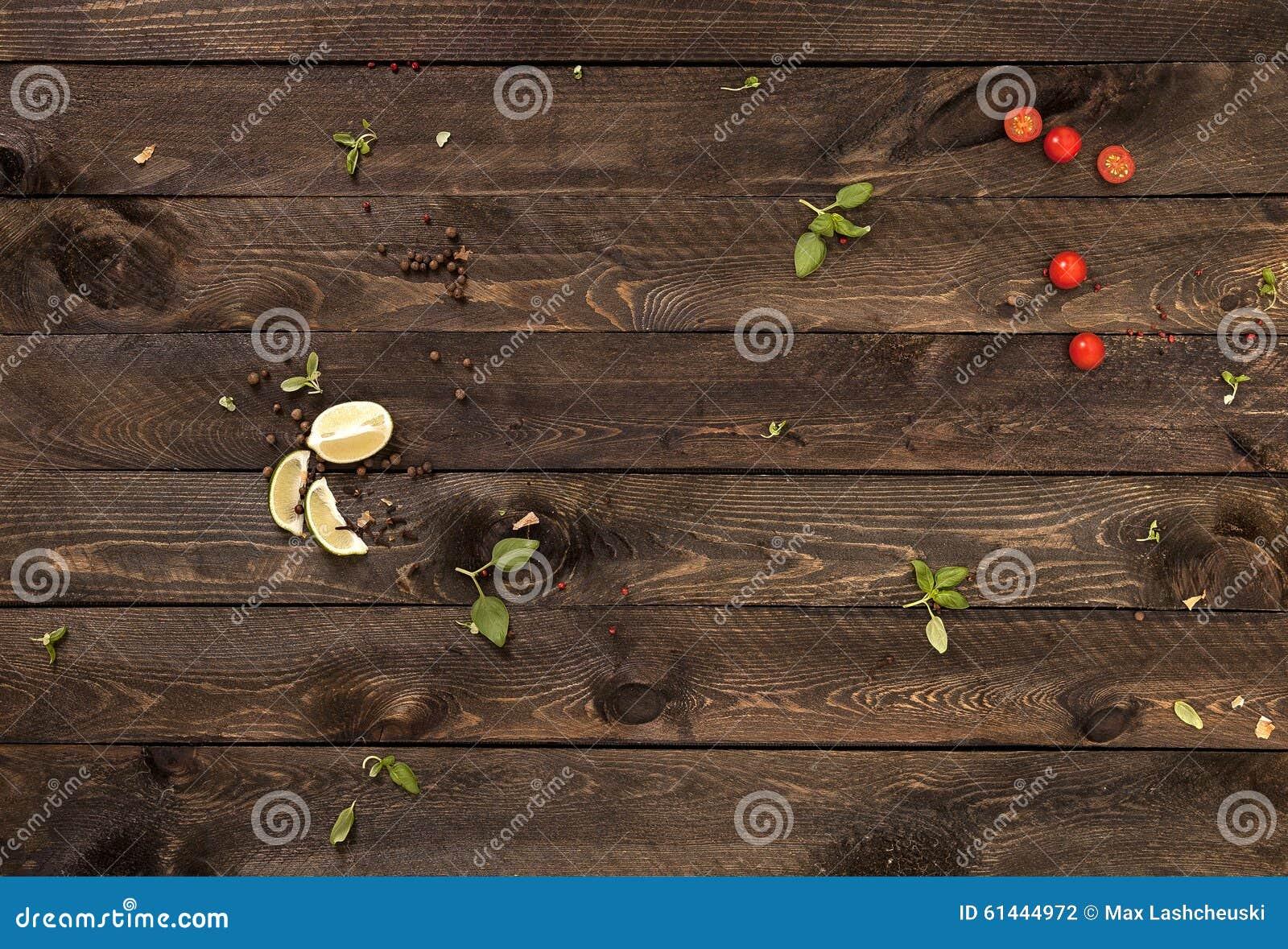 Begreppsbakgrund för menyn table trä
