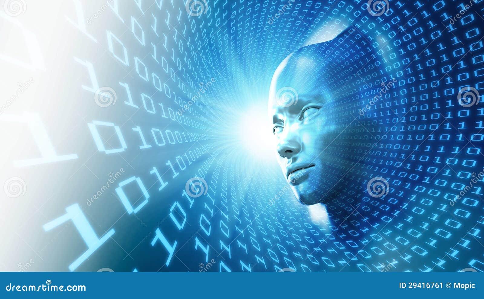 Begreppsillustration för konstgjord intelligens