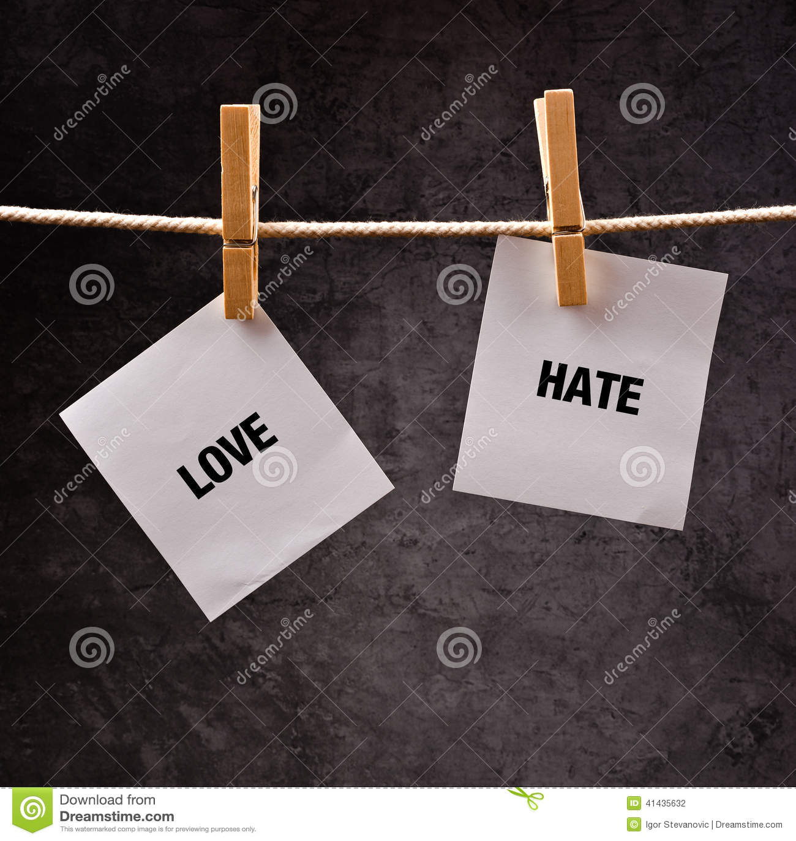 Begreppsmässig bild för förälskelse eller för hat