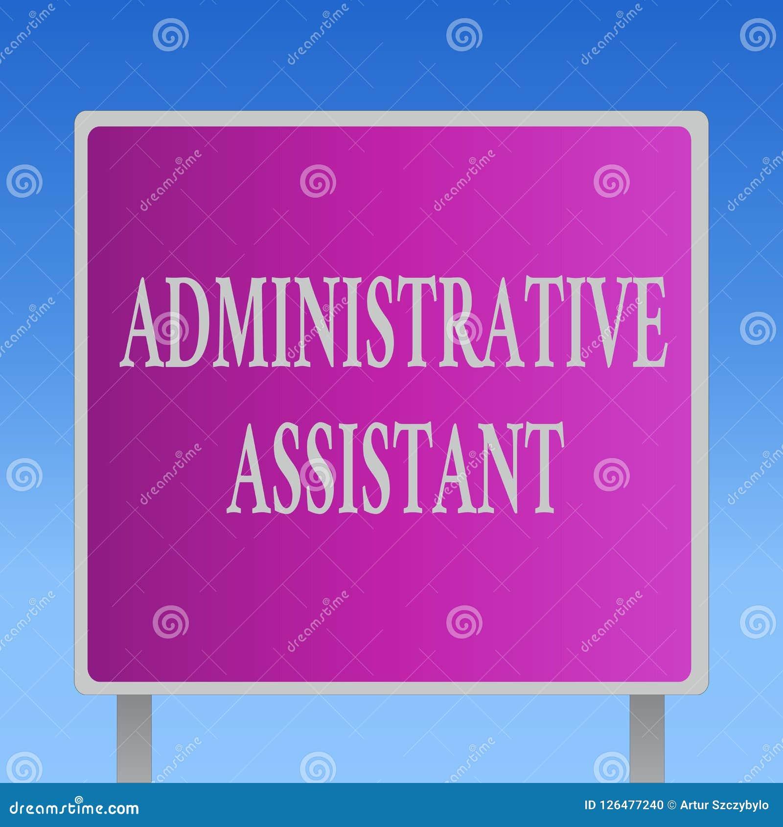 Begreppsmässig handhandstil som visar den administrativa assistenten Specialist Clerical Tasks för service för administration för