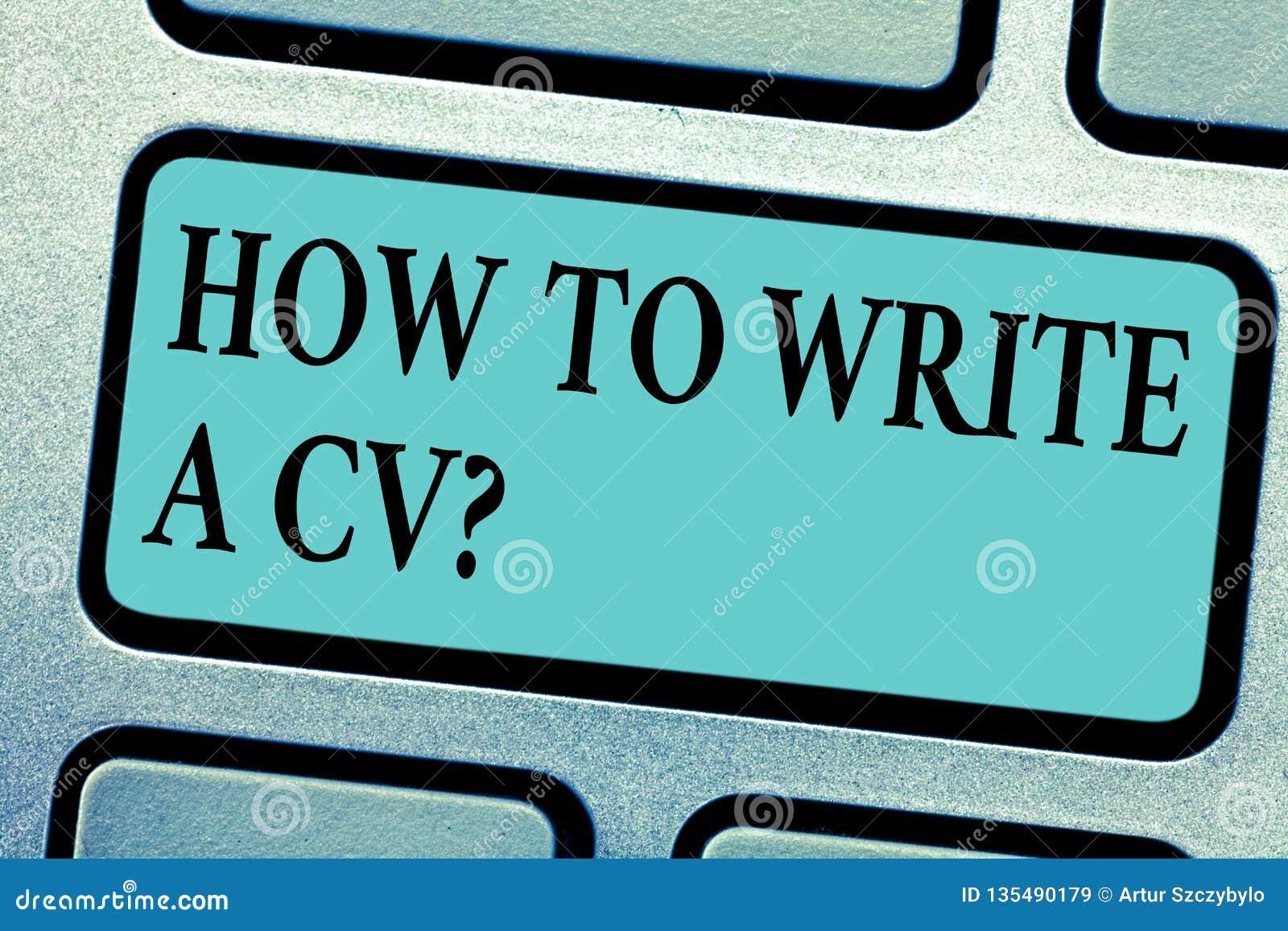 Begreppsmässig handhandstil som visar hur man skriver ett CV Affärsfoto som ställer ut rekommendationer att göra en bra meritfört