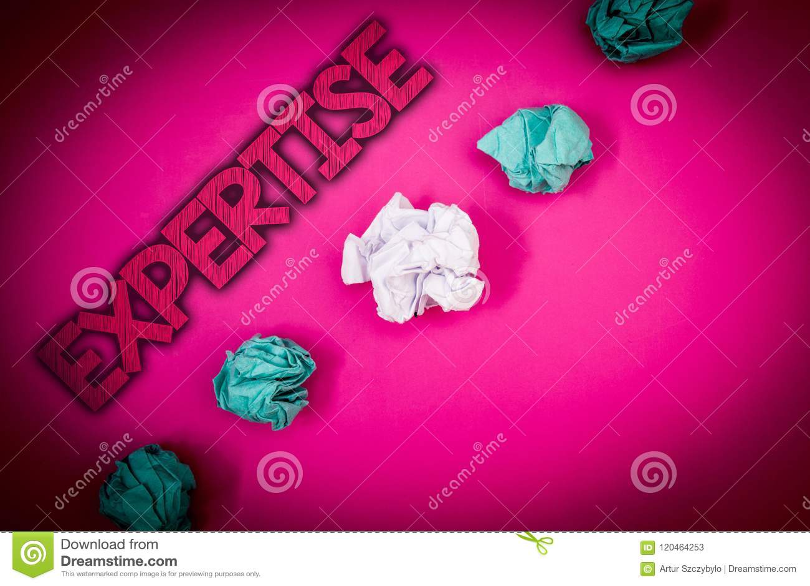 Begreppsmässig sakkunskap för handhandstilvisning Expertis eller kunskap för affärsfototext sakkunnig i en särskild vishet I för