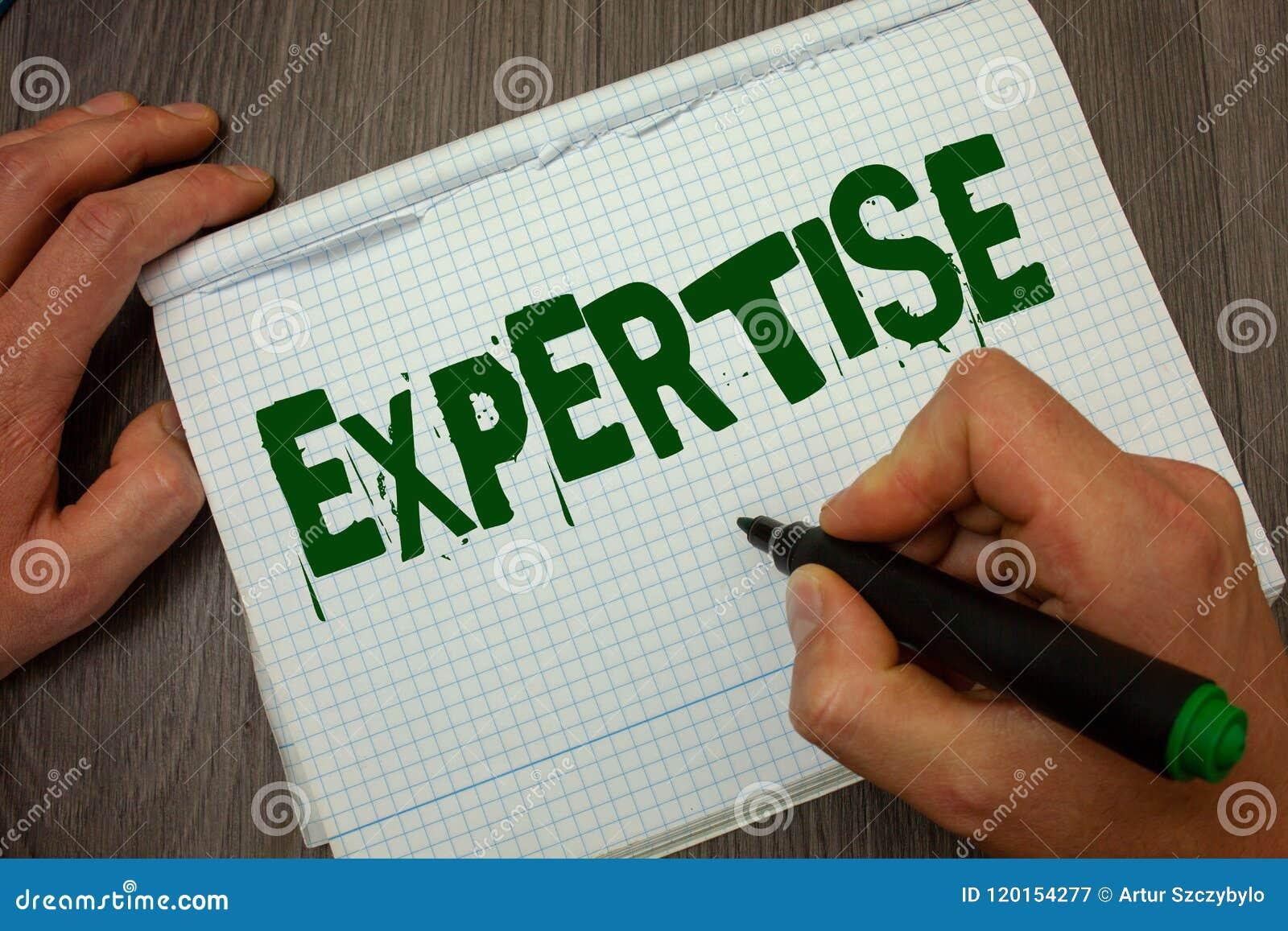 Begreppsmässig sakkunskap för handhandstilvisning Expertis eller kunskap för affärsfototext sakkunnig i en särskild vishet M för