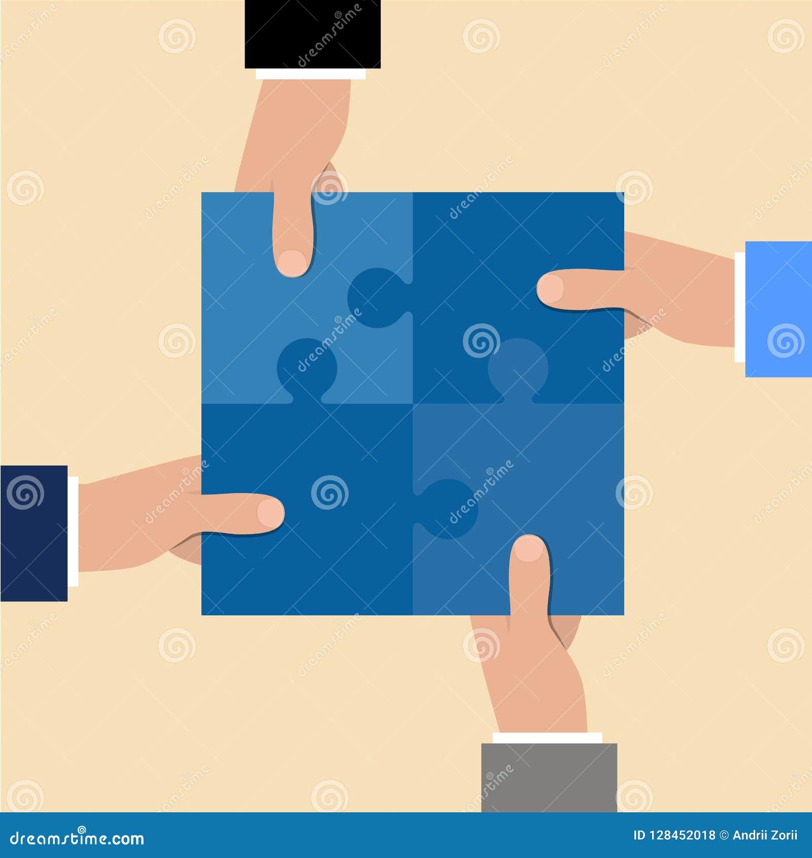 Begreppsmässiga händer för kommunikation som rymmer bildpussel Stycken tillsammans Schacket figurerar bishops Affärspartnerskapme