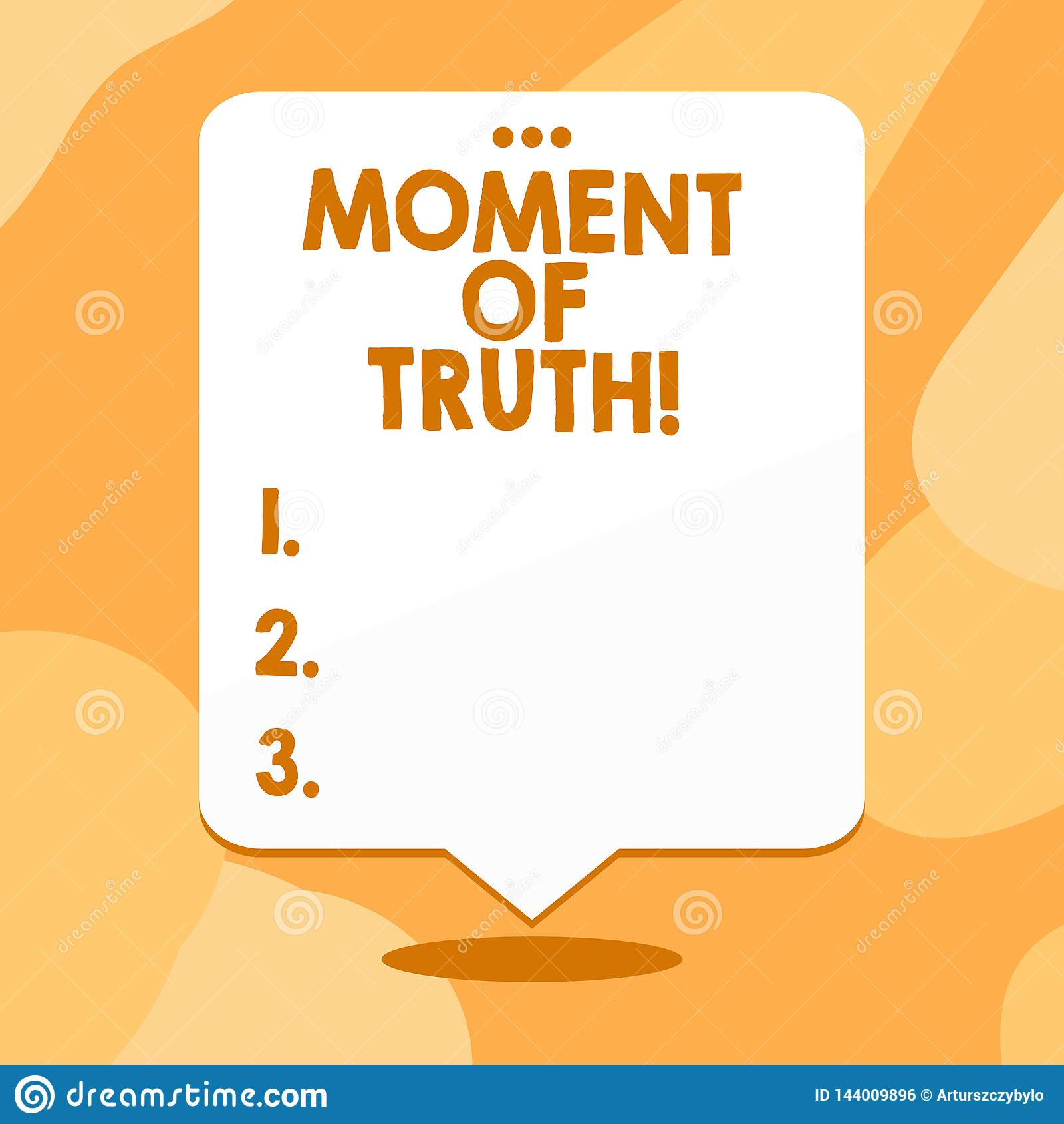 Begreppsmässigt ögonblick för handhandstilvisning av sanning E