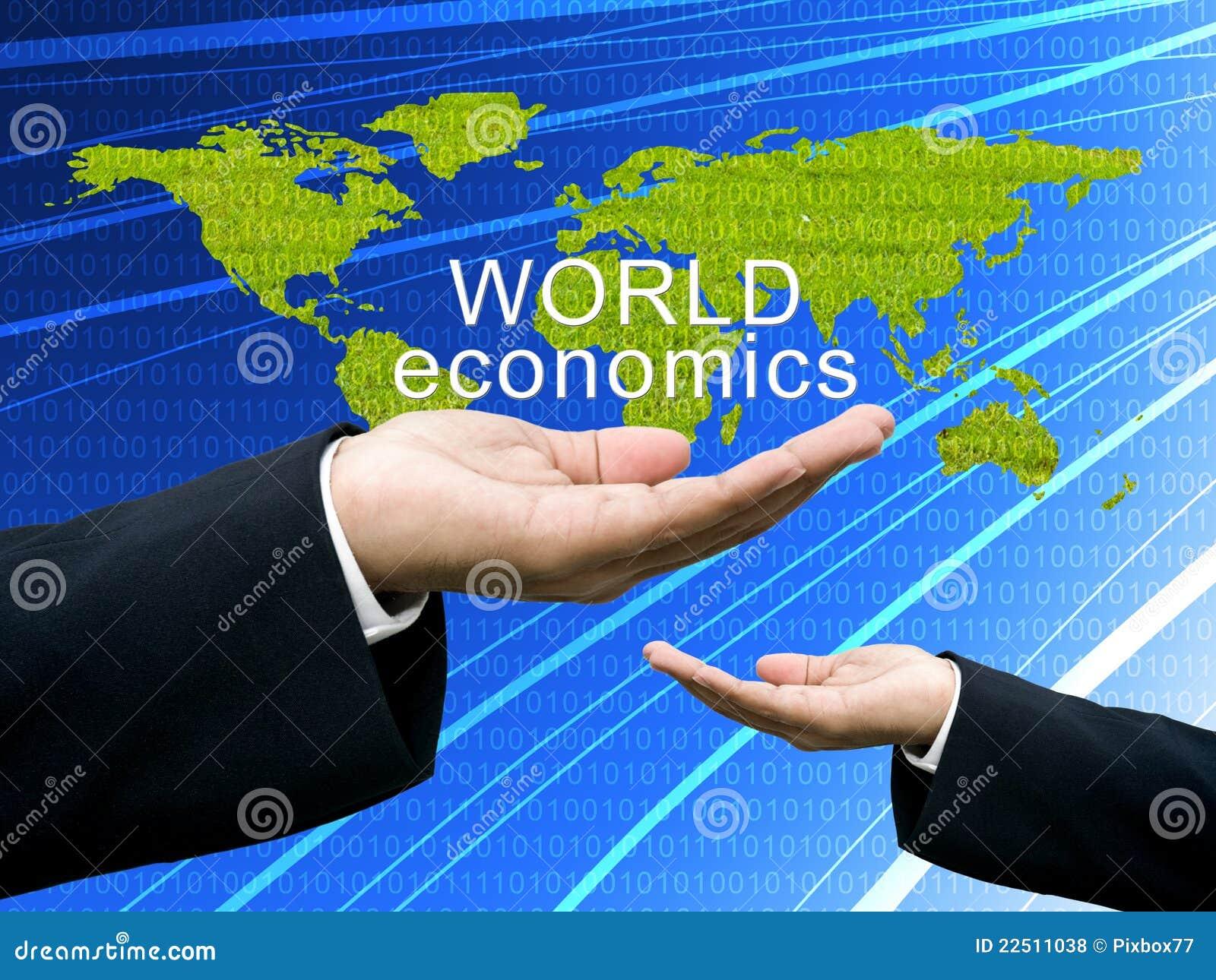 Begreppsnationalekonomin hand världen