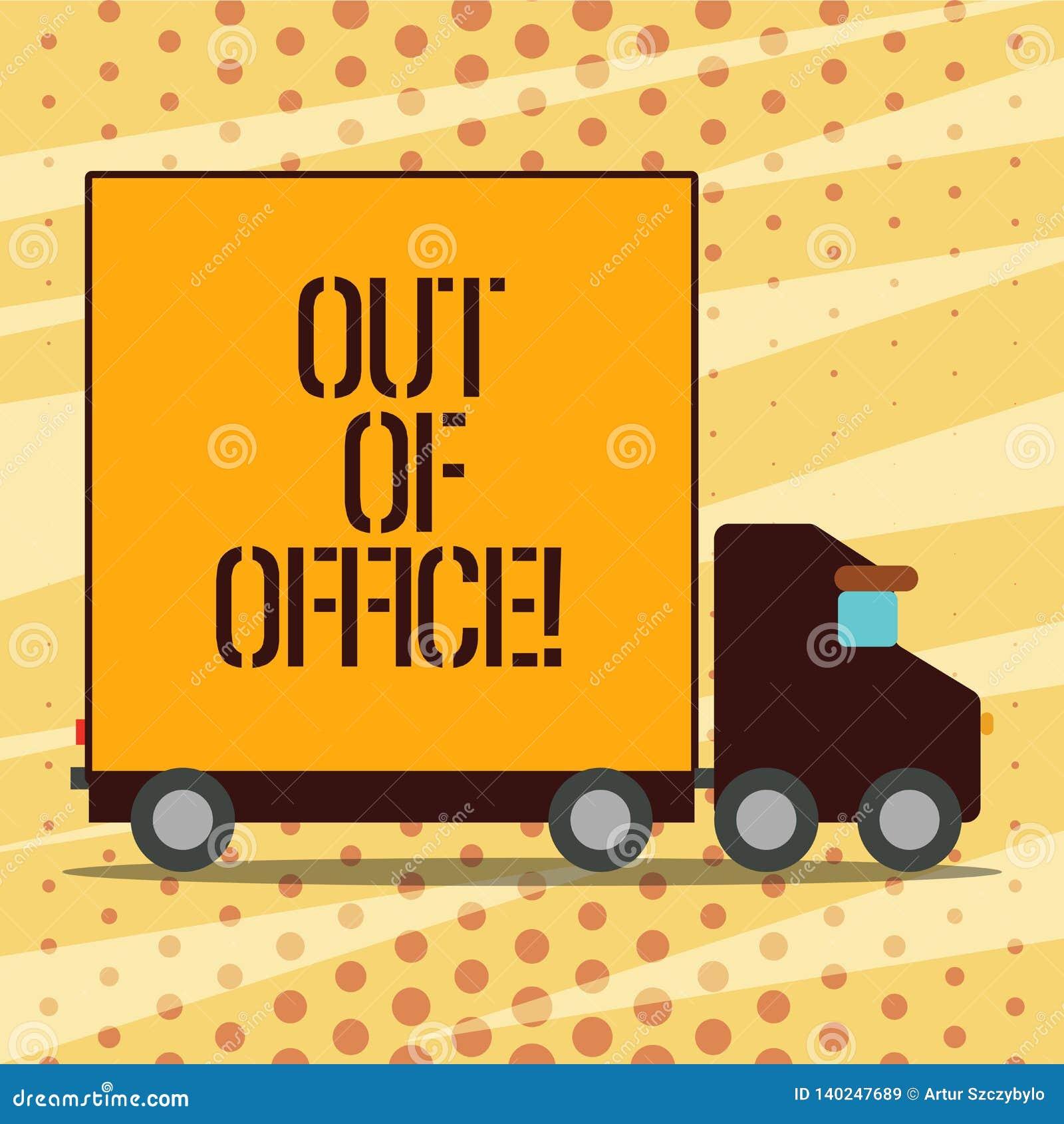 Begriffshandschrift, die aus Büro heraus darstellt Geschäftsfoto, das außerhalb des Jobs niemand in Geschäft Bruch zur Schau stel