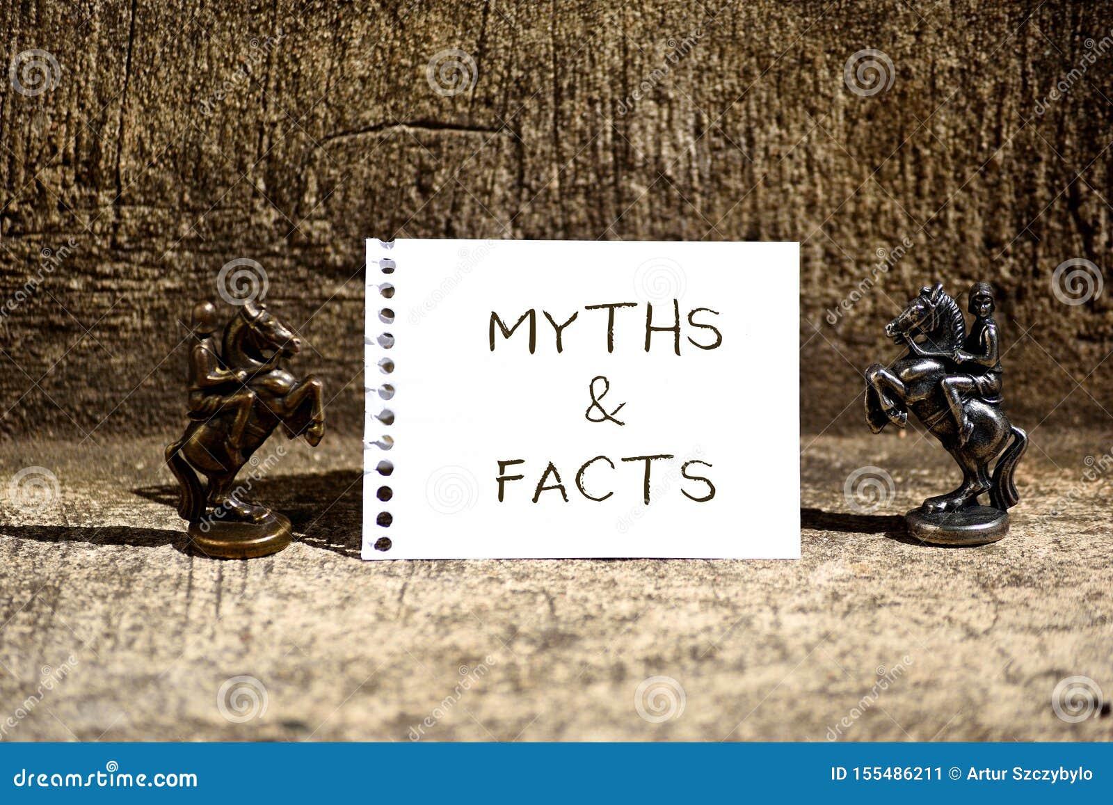 Begriffshandschrift, die Mythen und Tatsachen zeigt Geschäftsfoto, das normalerweise traditionelle Geschichte von anscheinend zur