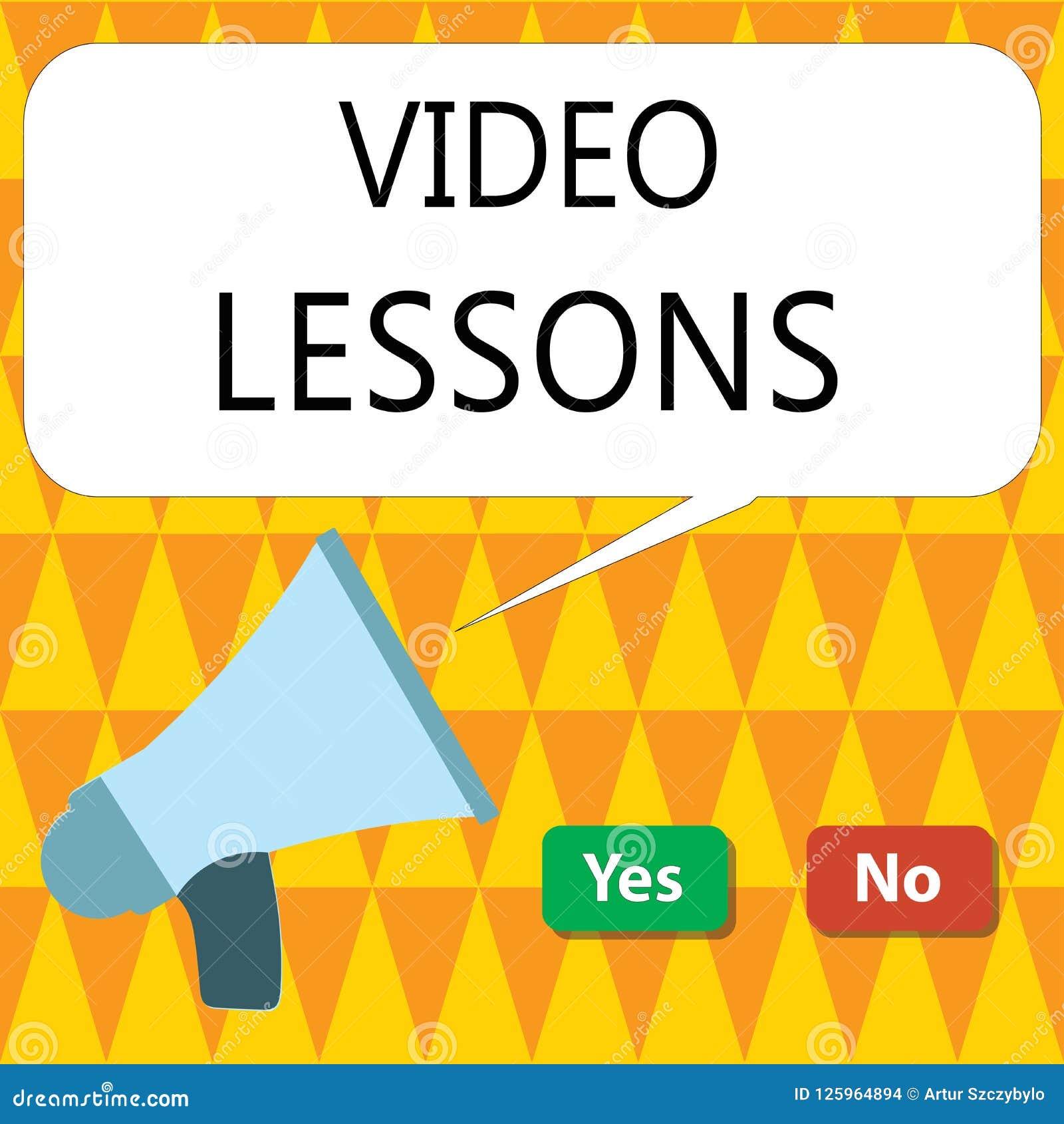 Begriffshandschrift, die Videolektionen zeigt Geschäftsfoto, das on-line-Bildungsmaterial für eine Thema Betrachtung und ein lear
