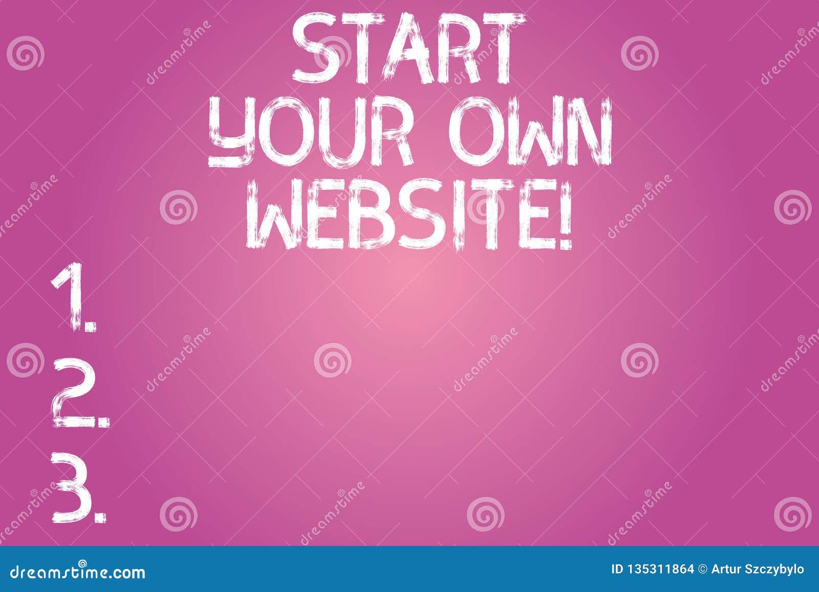 Begriffshandschriftvertretung Anfang Ihre Eigene Website
