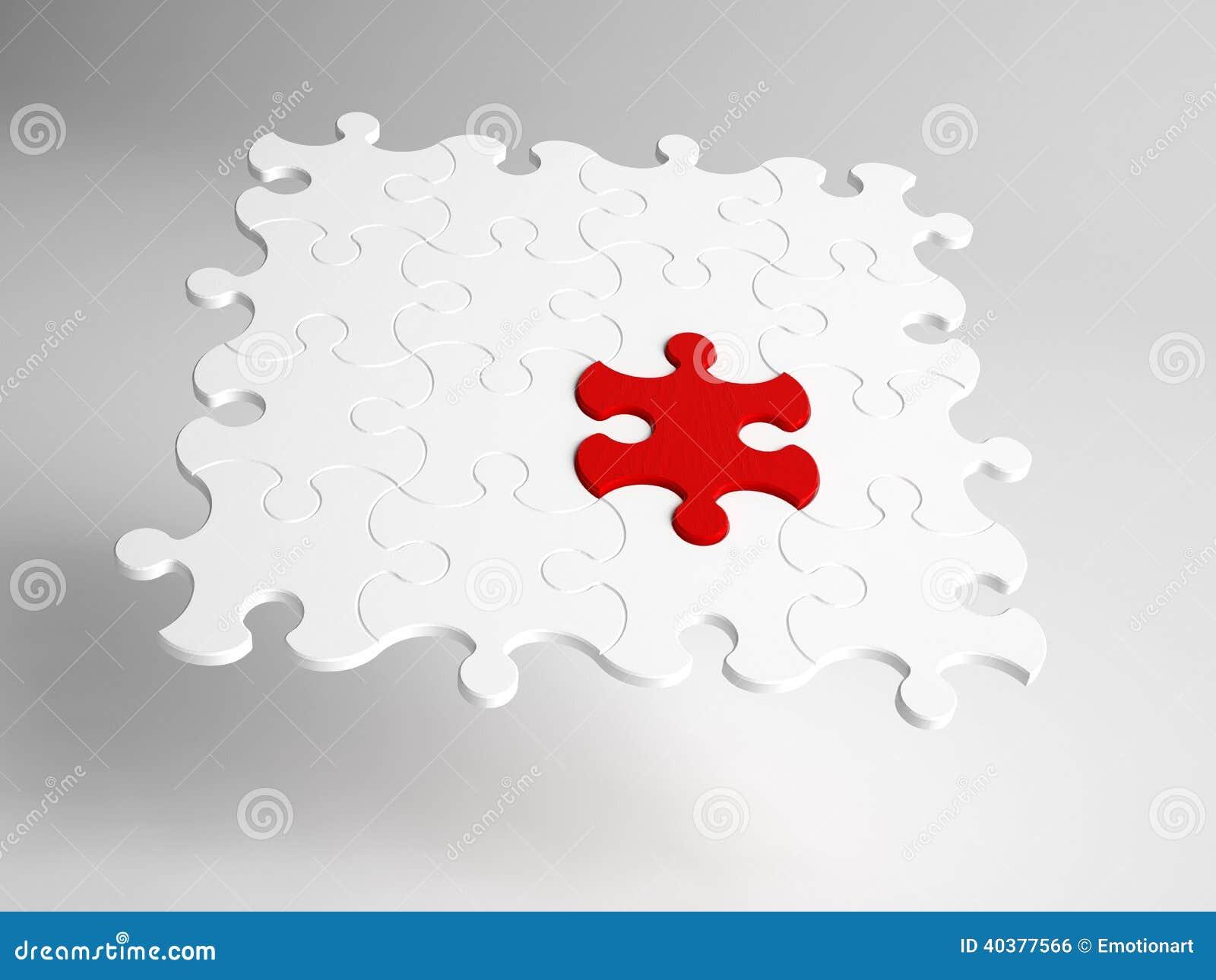 Begriffsnahaufnahme des abstrakten Puzzlen