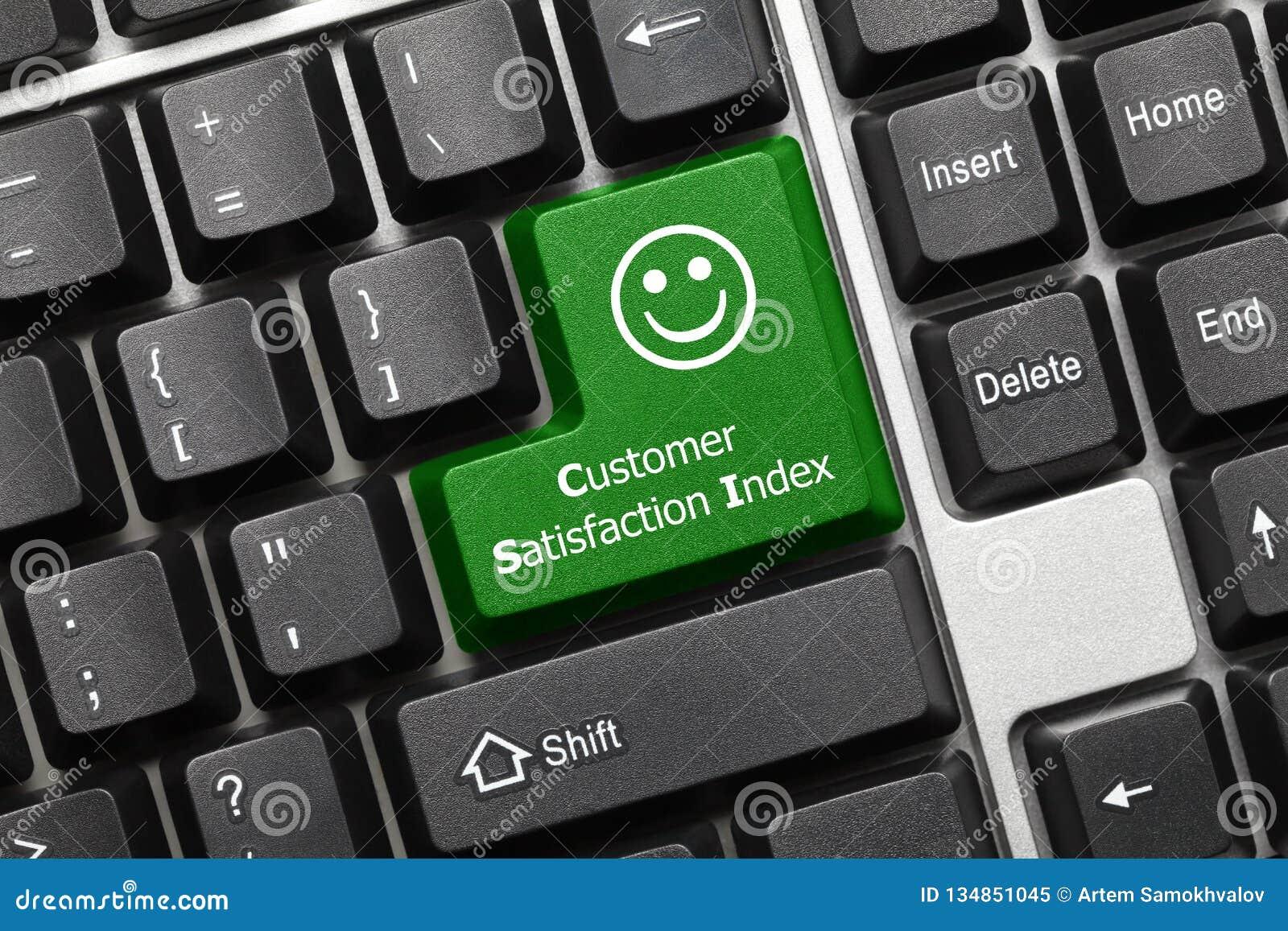 Begriffstastatur - Kundendienst-Indexgrünschlüssel