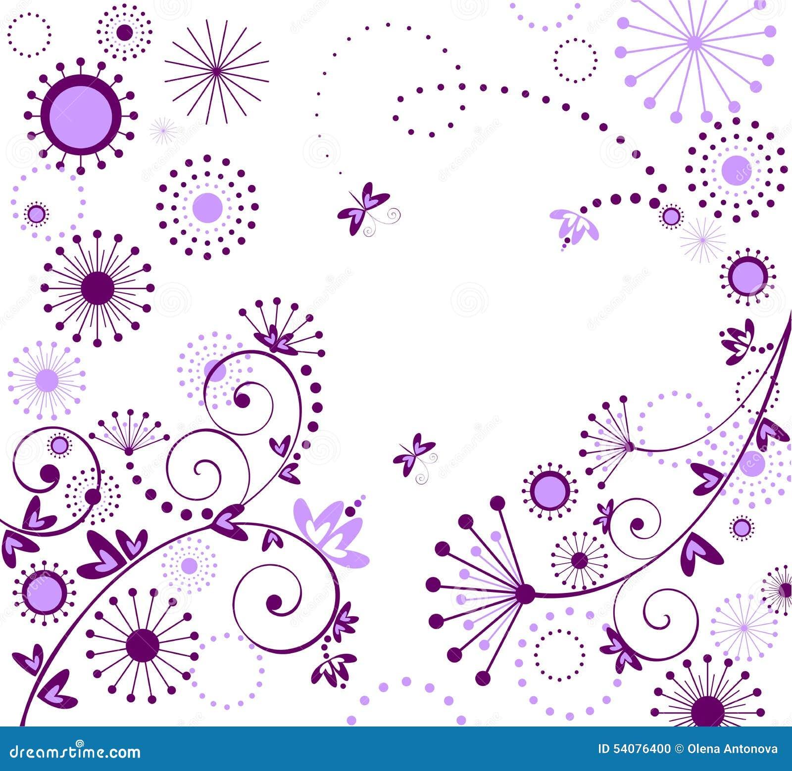 Begroetende violette kaart