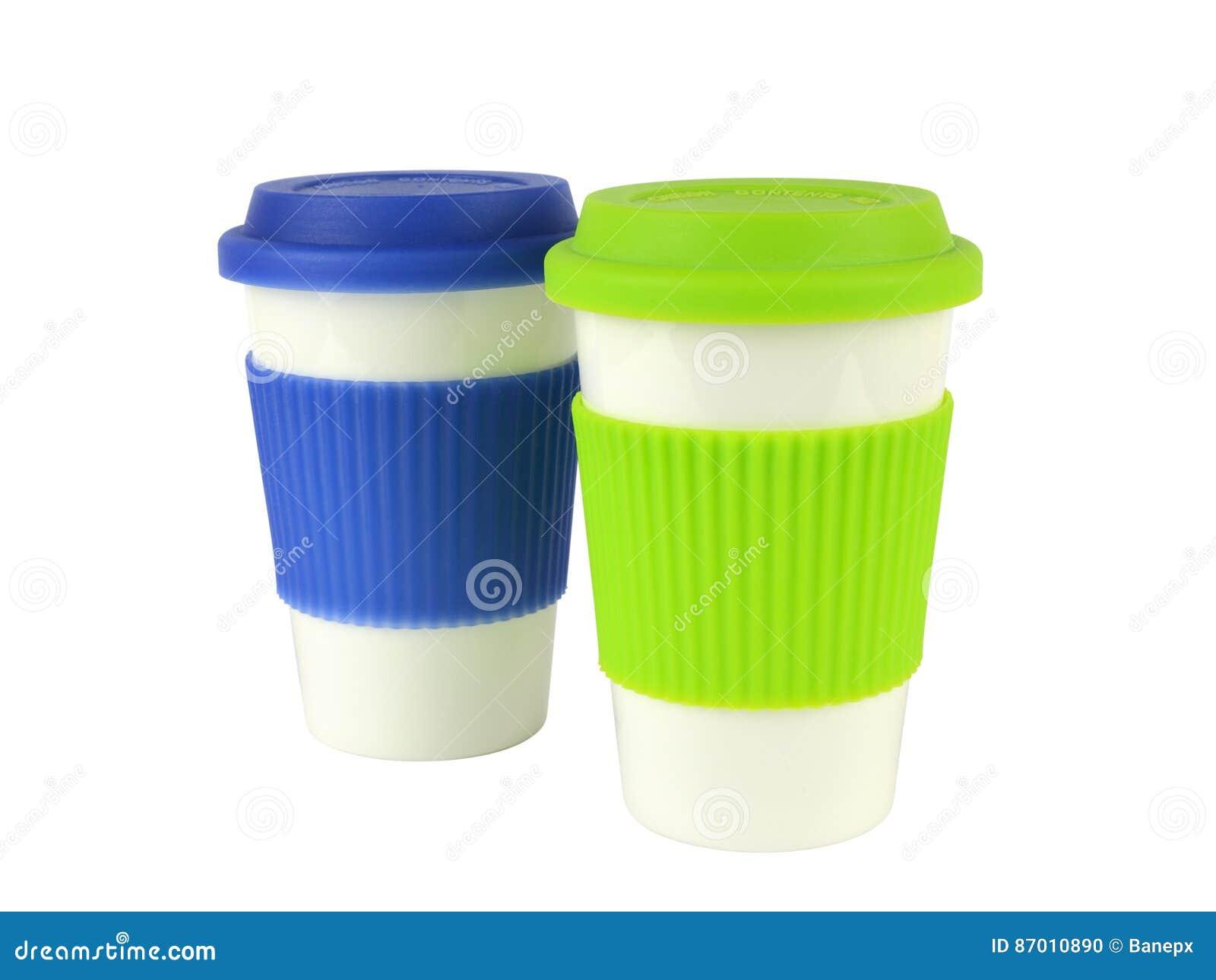 Behälter Für Heiße Getränke Stockfoto - Bild von halterung, silikon ...