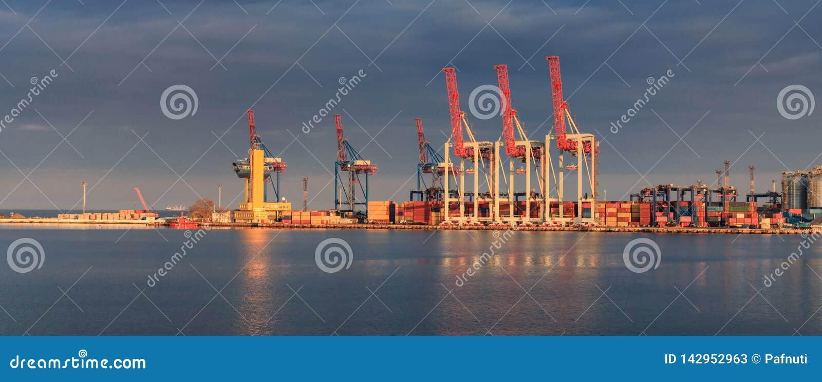 Behälter-Ladungfrachtlieferung mit Arbeitskran