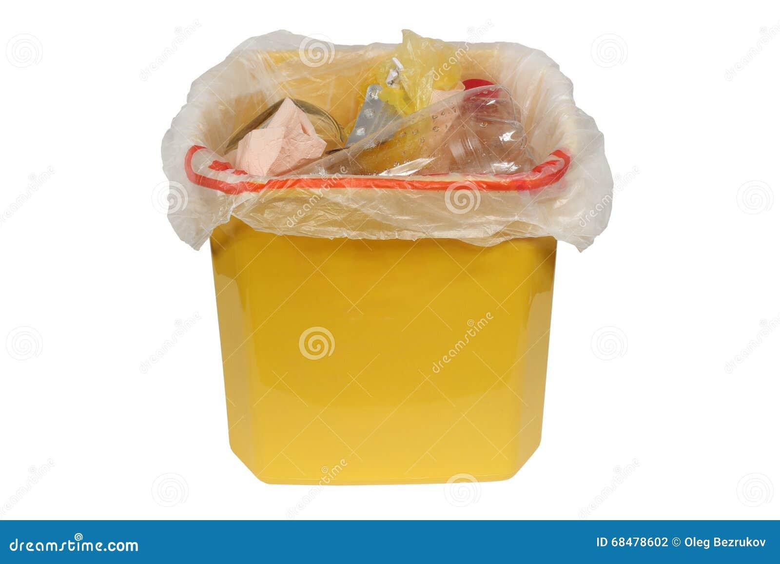 Behälter mit Abfall (Mülltonne)