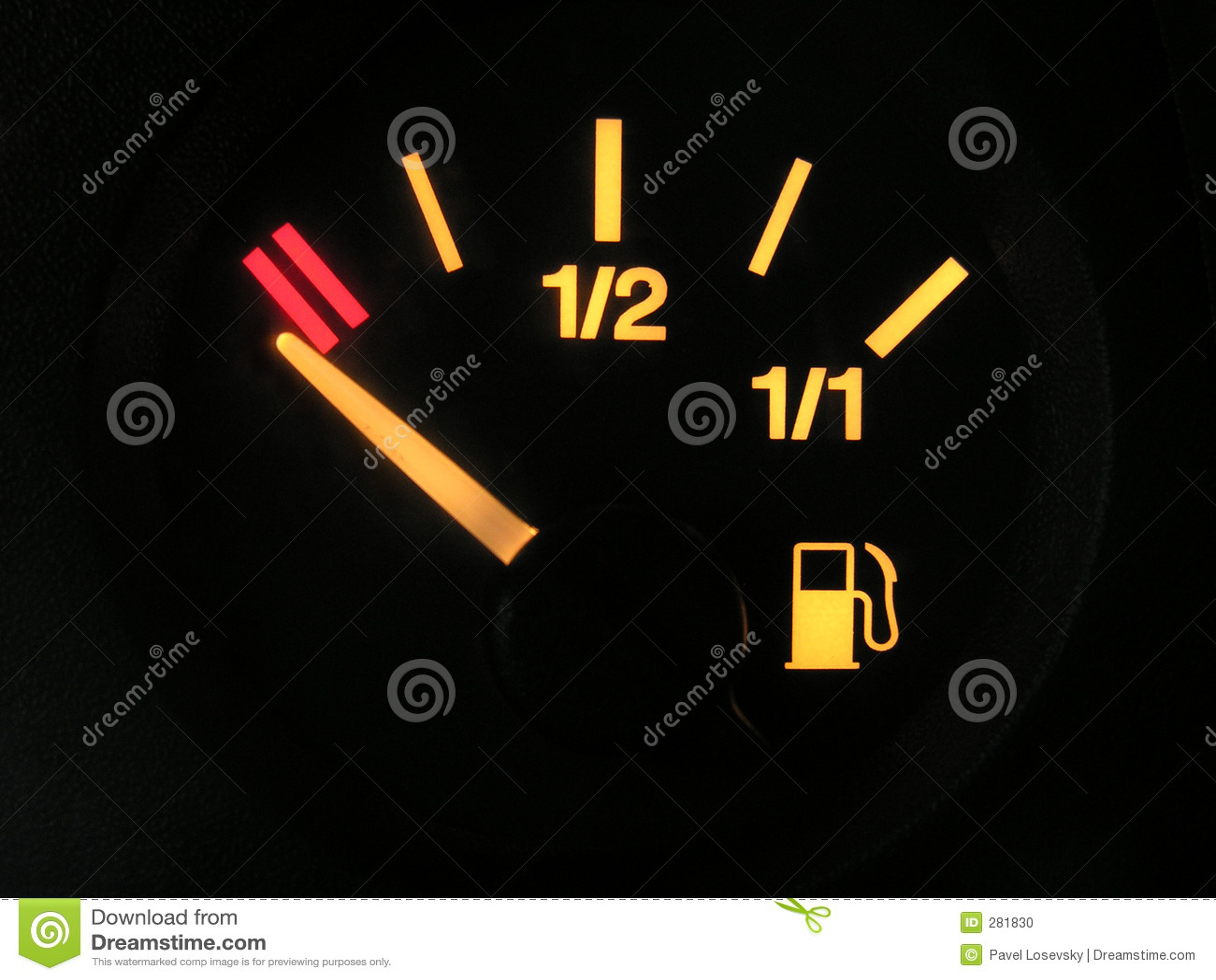 Behållare för tom avkännare för benzine