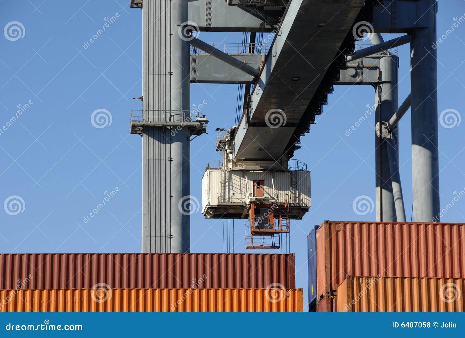 Behållare sträcker på halsen stor moving port