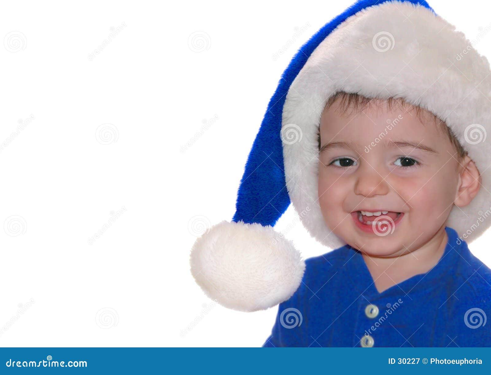 Behandla som ett barn blåa barn santa