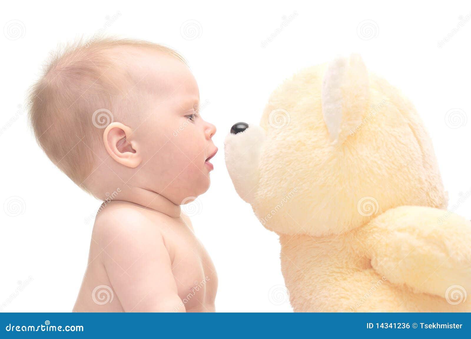 Behandla som ett barn den hapy nallen för björnen