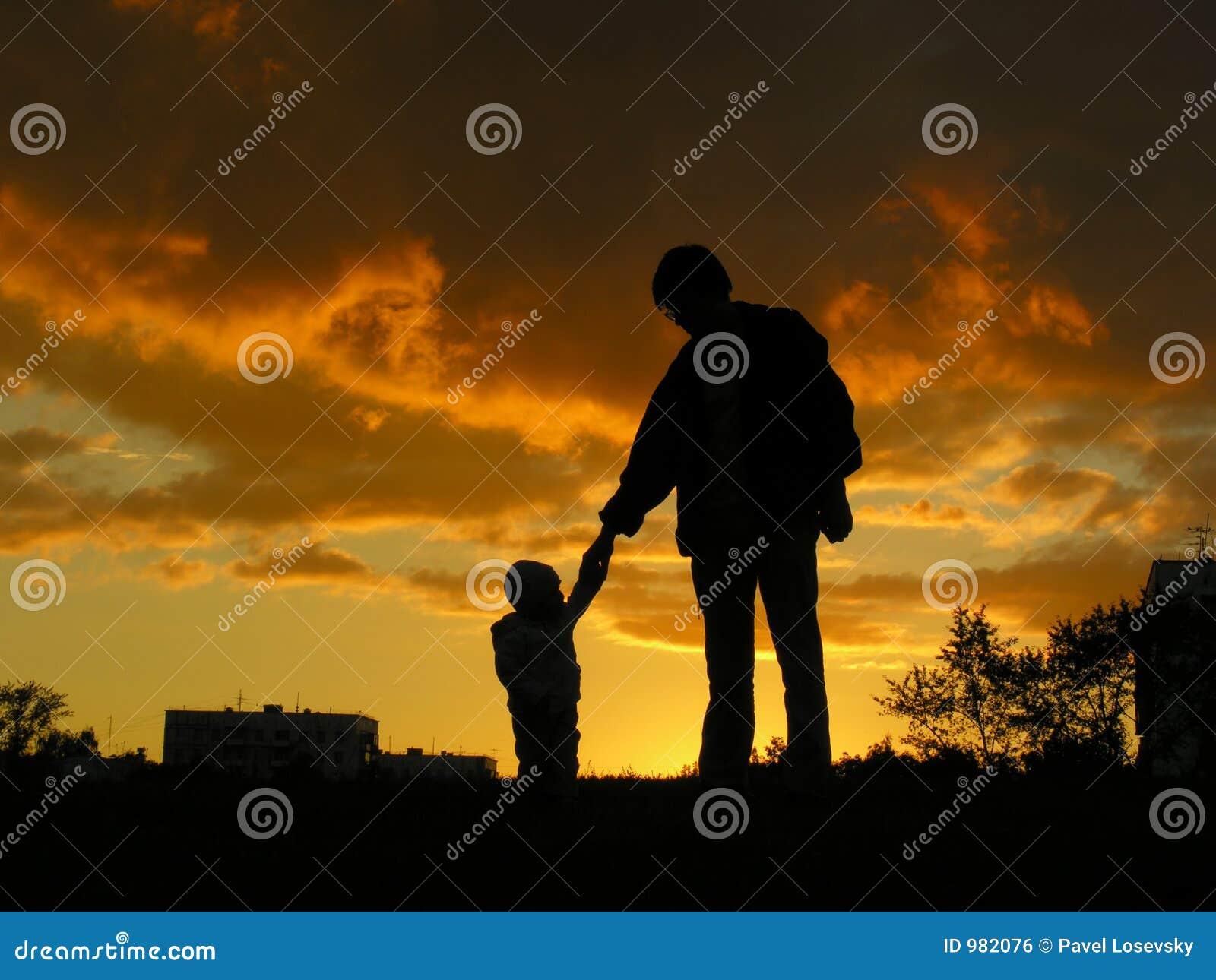 Behandla som ett barn fadersolnedgången