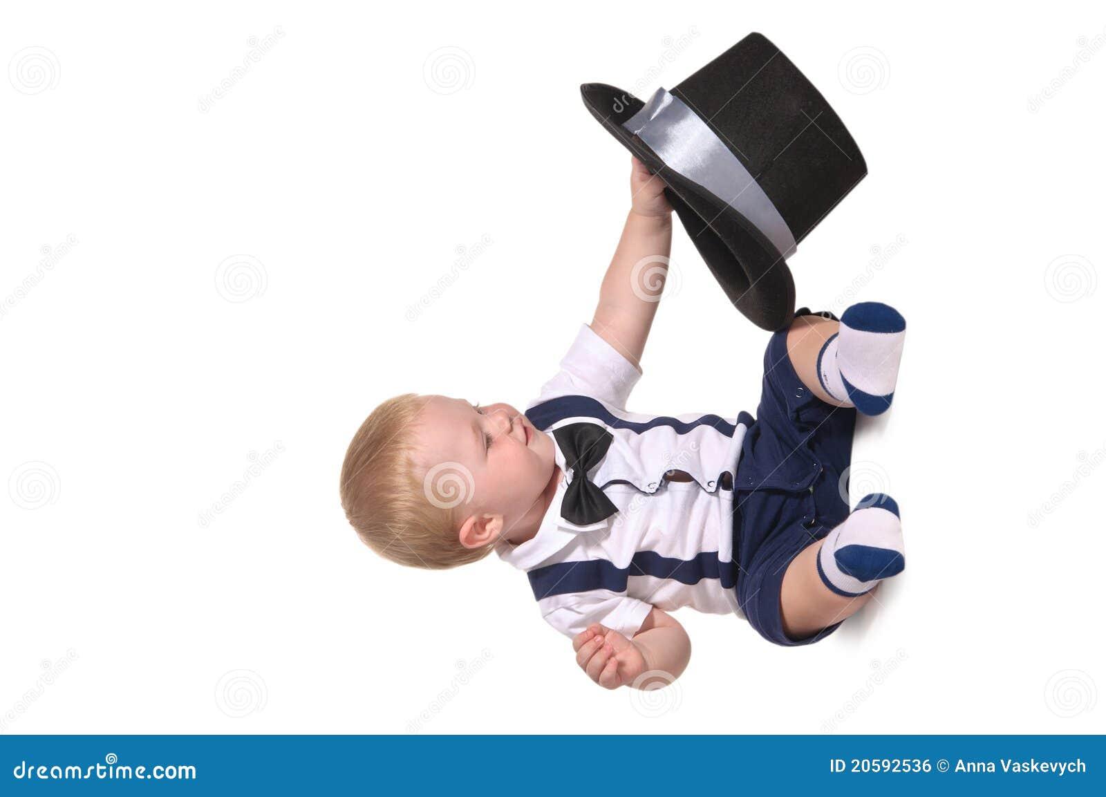 Behandla som ett barn hatten för pojkecylindergentlemannen