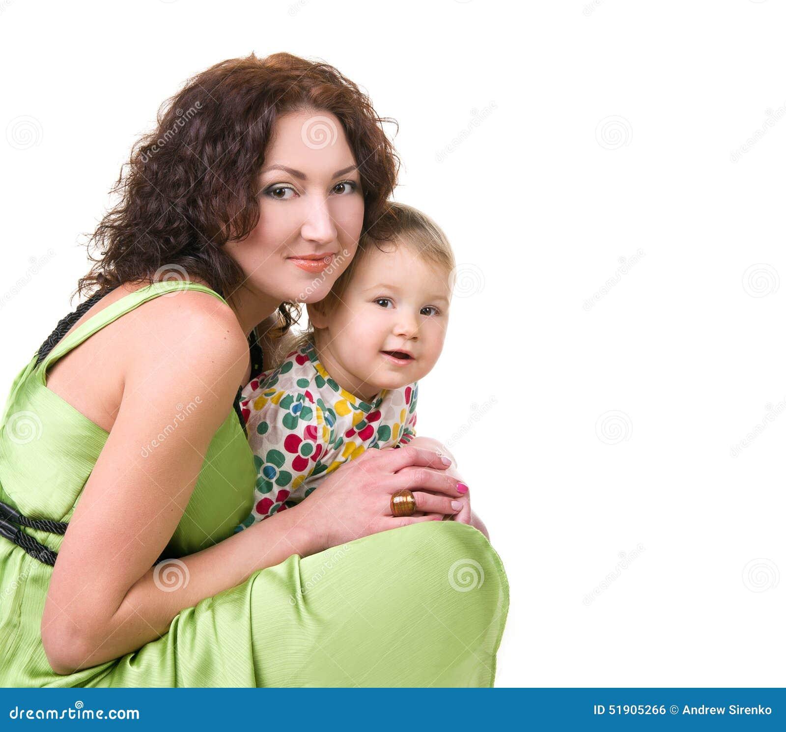 Behandla som ett barn henne litet moderbarn