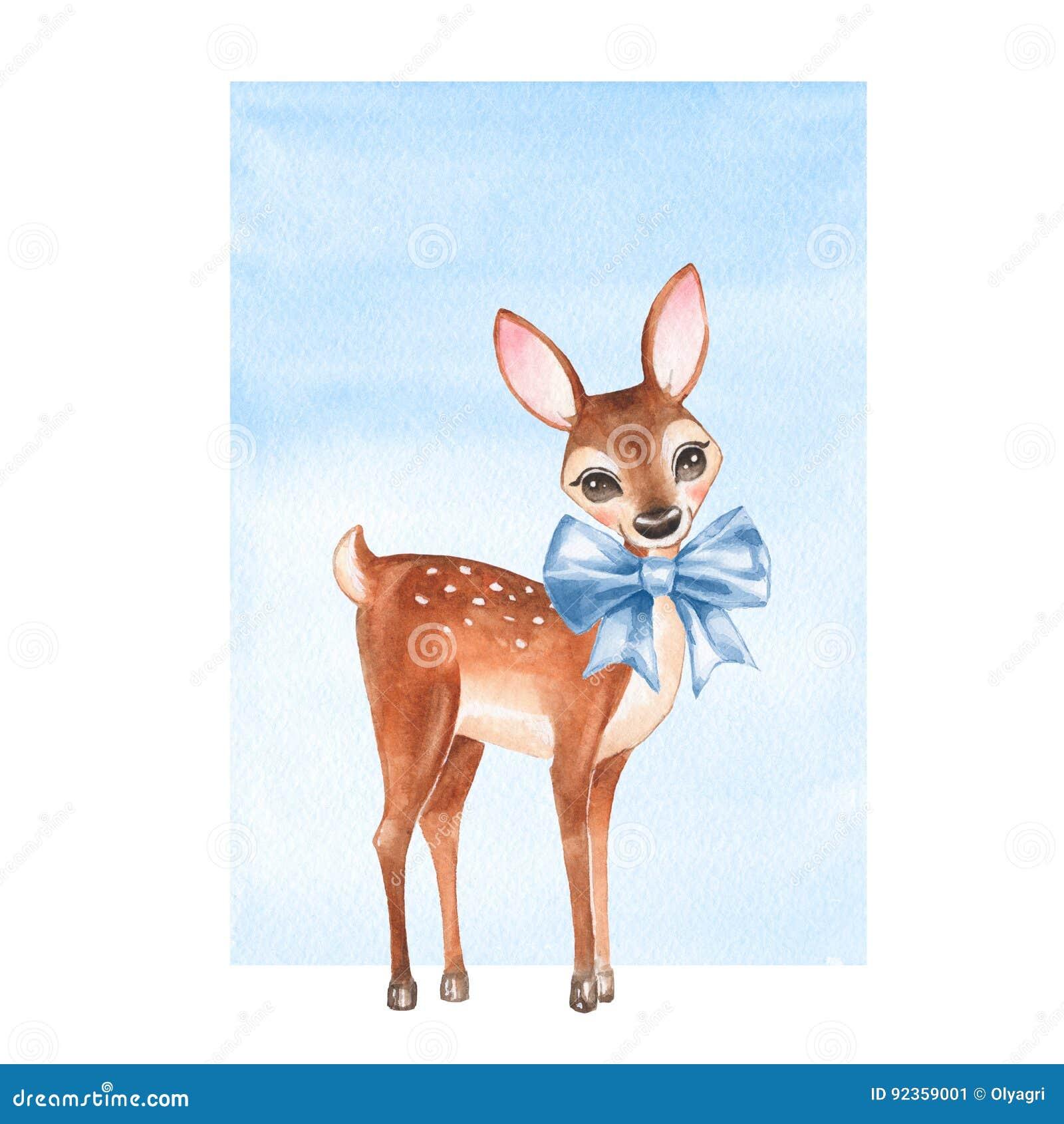 Behandla som ett barn hjortar Handen dragit gulligt lismar med en pilbåge