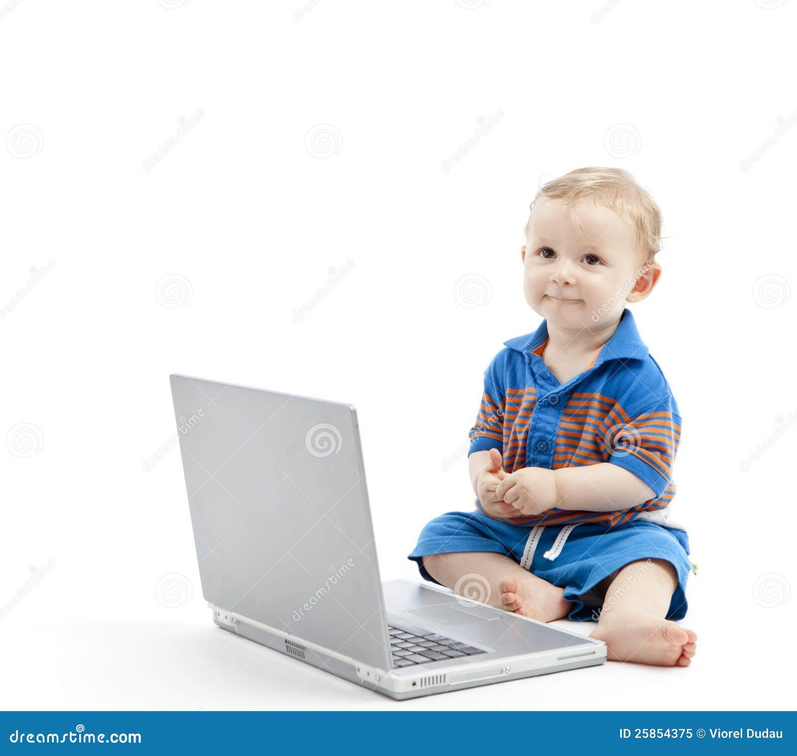 Behandla som ett barn med bärbar dator