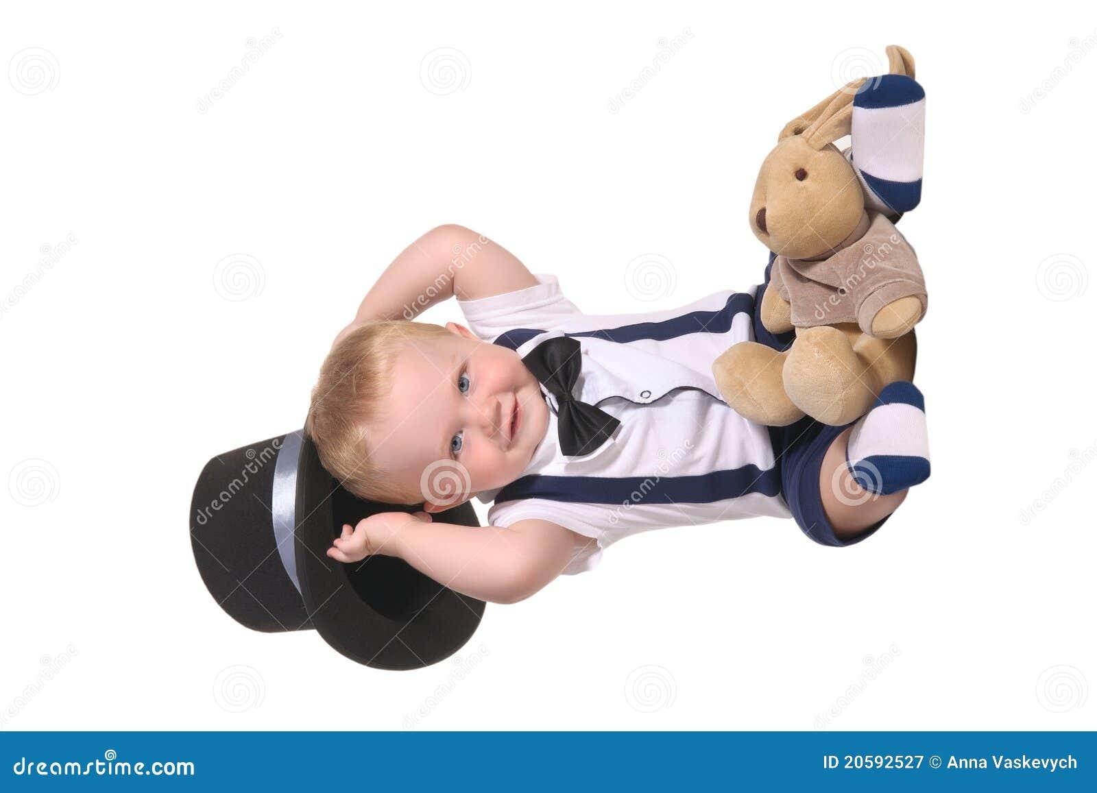 Behandla som ett barn trollkarlen för holdingen för pojkecylinderhatten