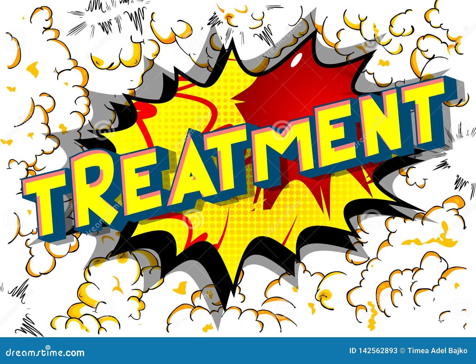 Behandlung - Comic-Buch-Artwörter