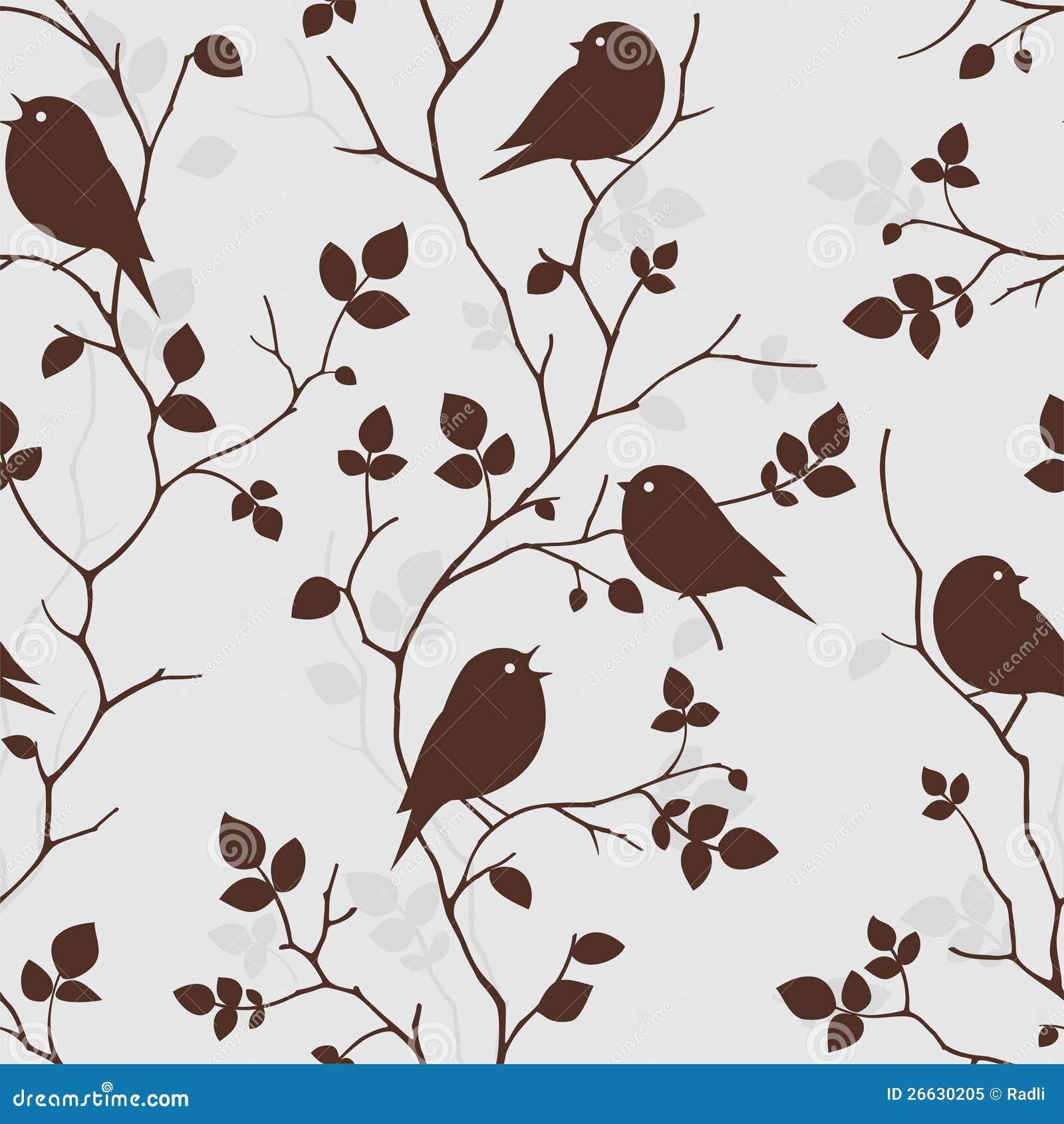 Behang met vogels naadloos patroon royalty vrije stock foto afbeelding 26 - Papier peint oiseaux ...