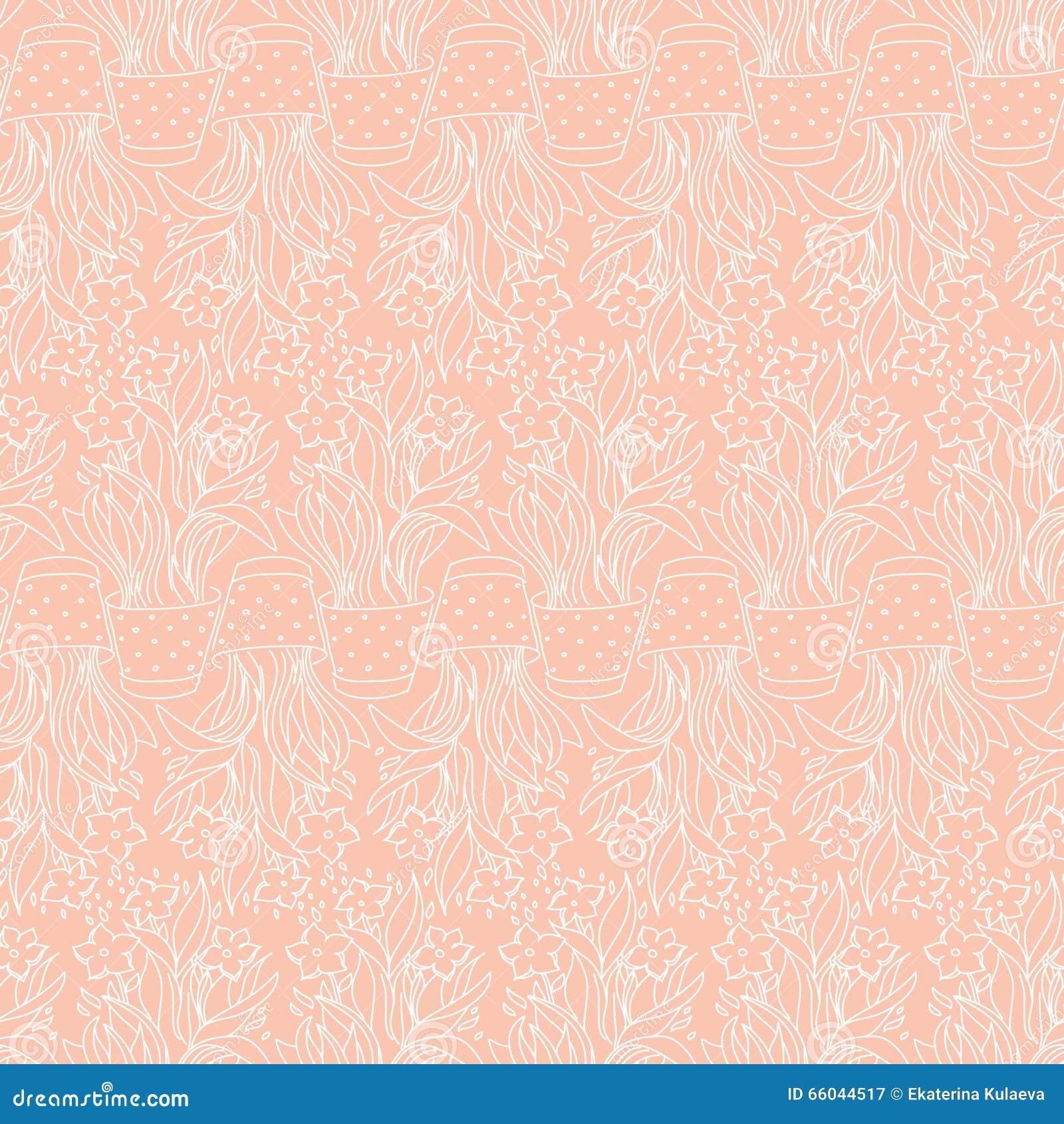 Behang naadloos patroon met narcissen vector illustratie afbeelding 66044517 - Behang grafisch ontwerp ...