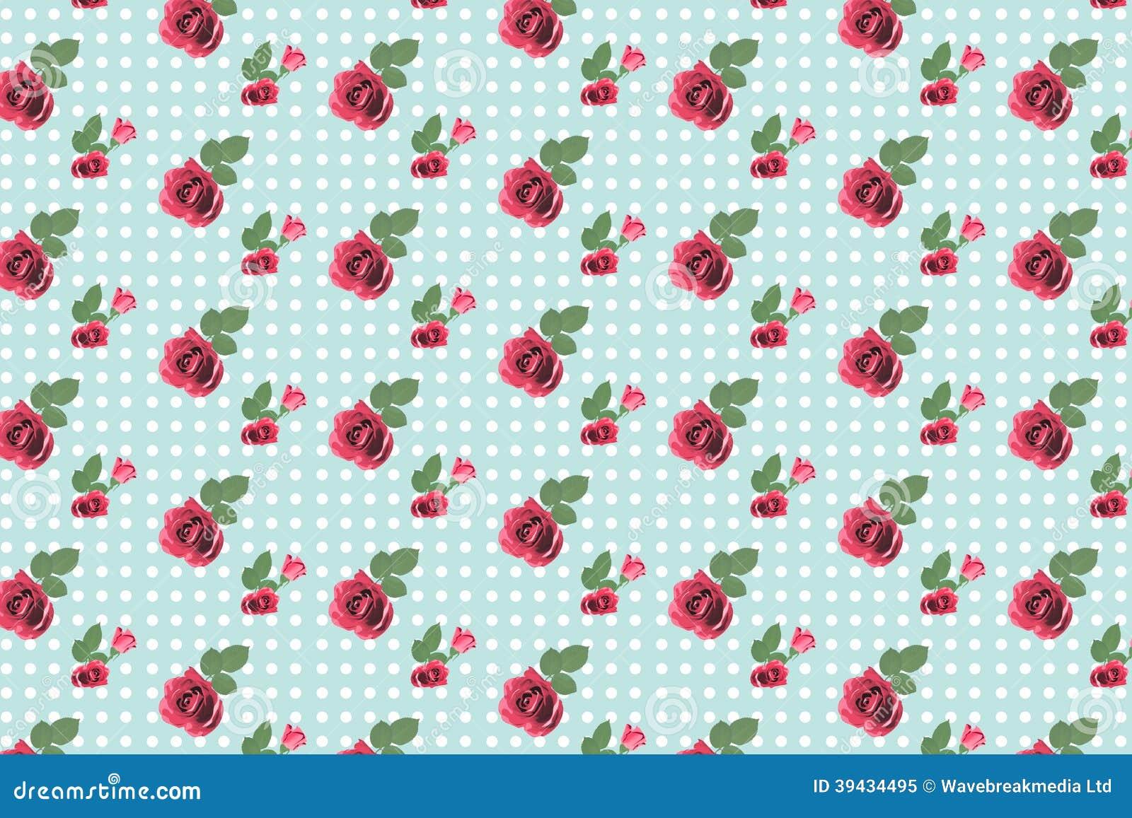 Behang van het kitsch het bloemenpatroon met rozen stock illustratie afbeelding 39434495 - Behang grafisch ontwerp ...