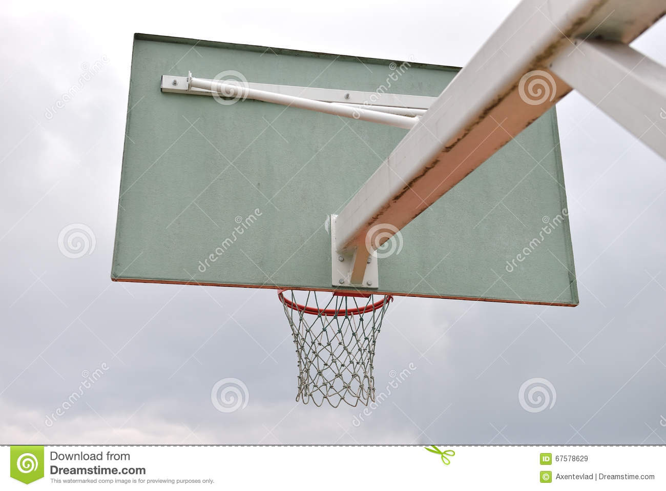 old basketball hoop street basketball throw the ball sport in the basket stock photo. Black Bedroom Furniture Sets. Home Design Ideas