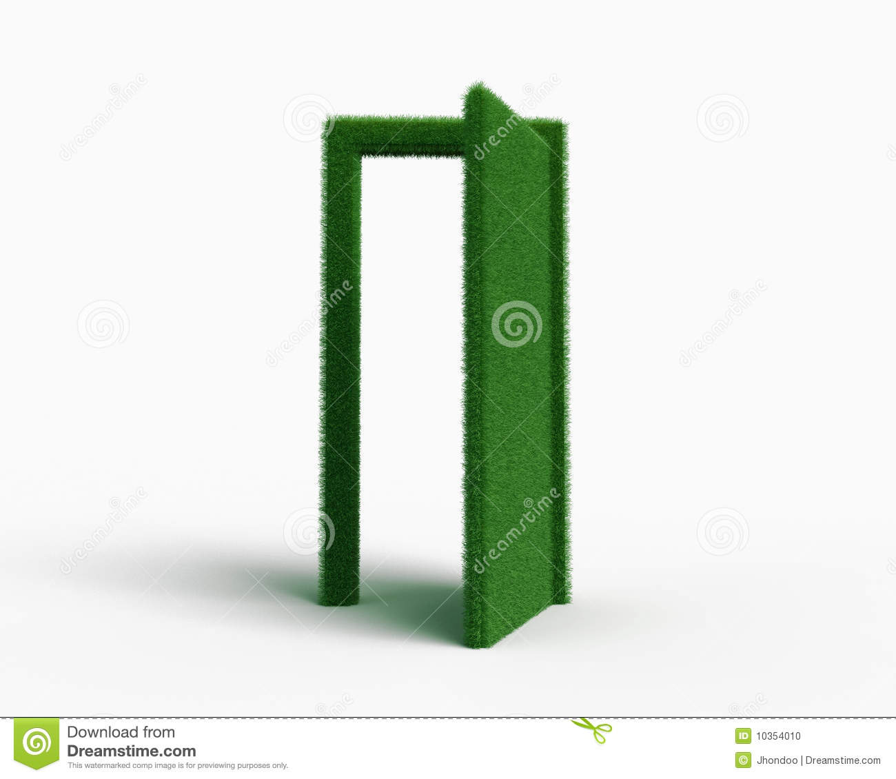 Behind the grass door  sc 1 st  Dreamstime.com & Behind the grass door stock illustration. Illustration of innovation ...