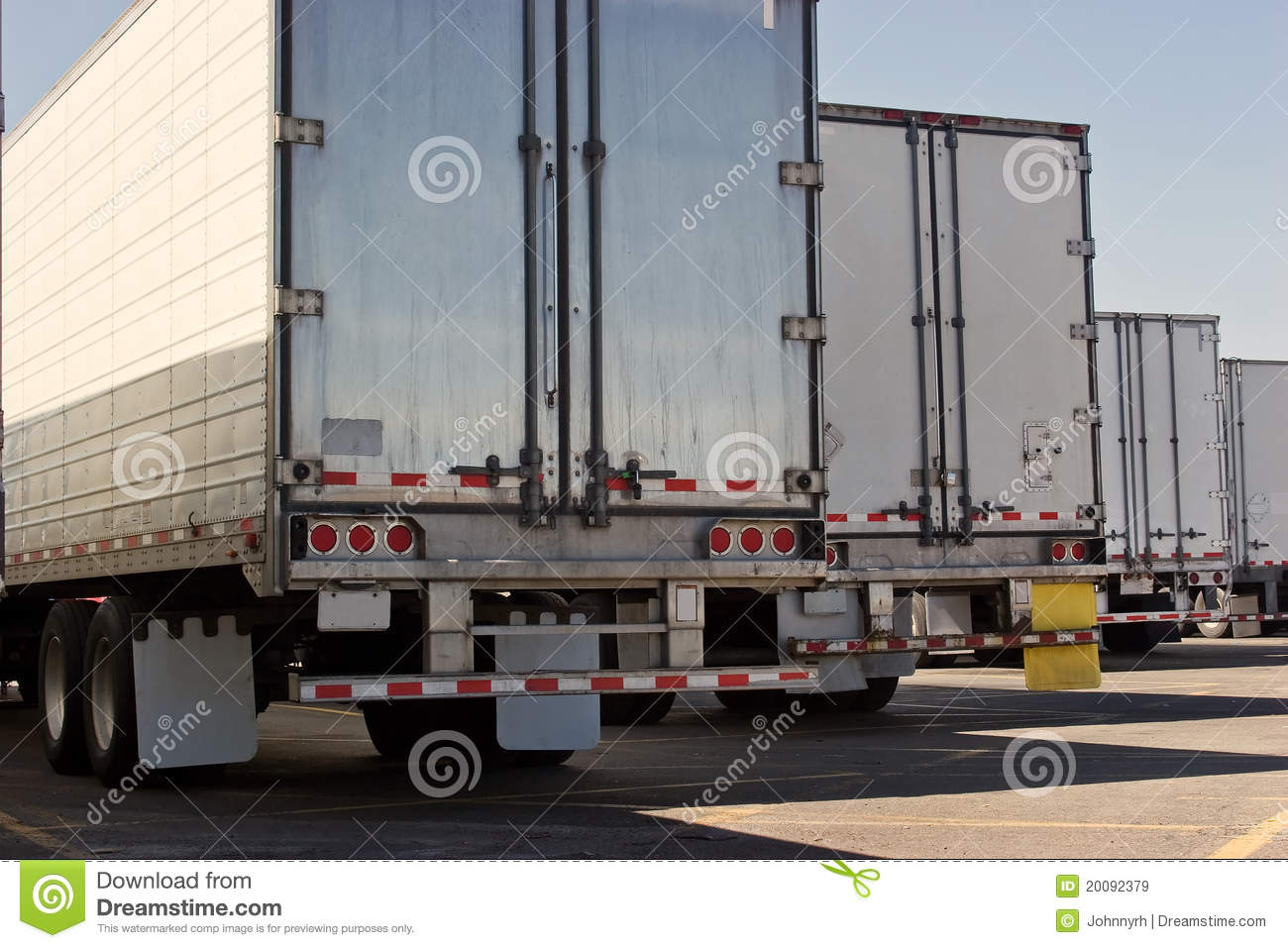 Shipping Container Trailer >> Behind Truck Trailers Royalty Free Stock Images - Image ...