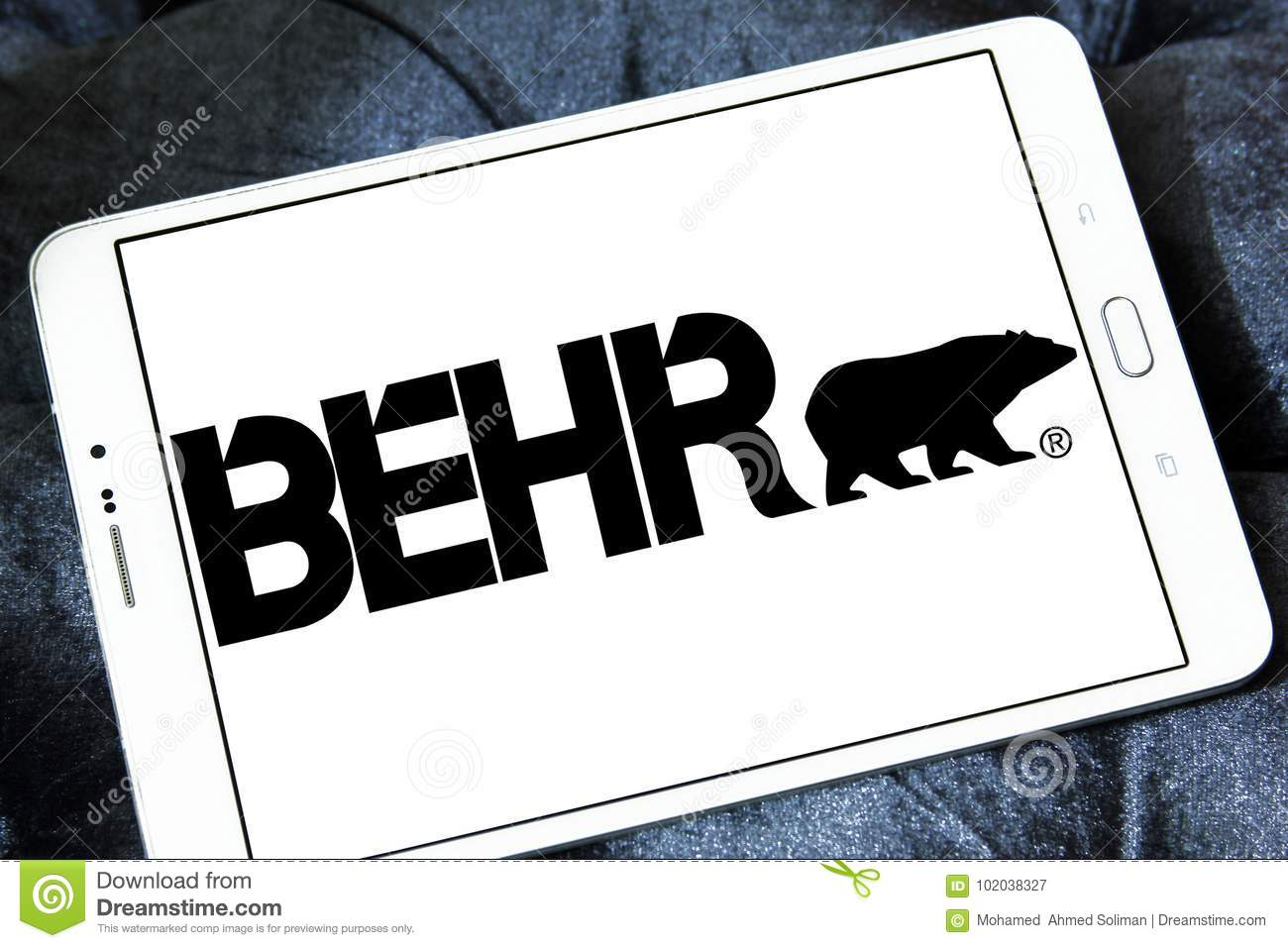 Behr paint company logo editorial photography  Image of