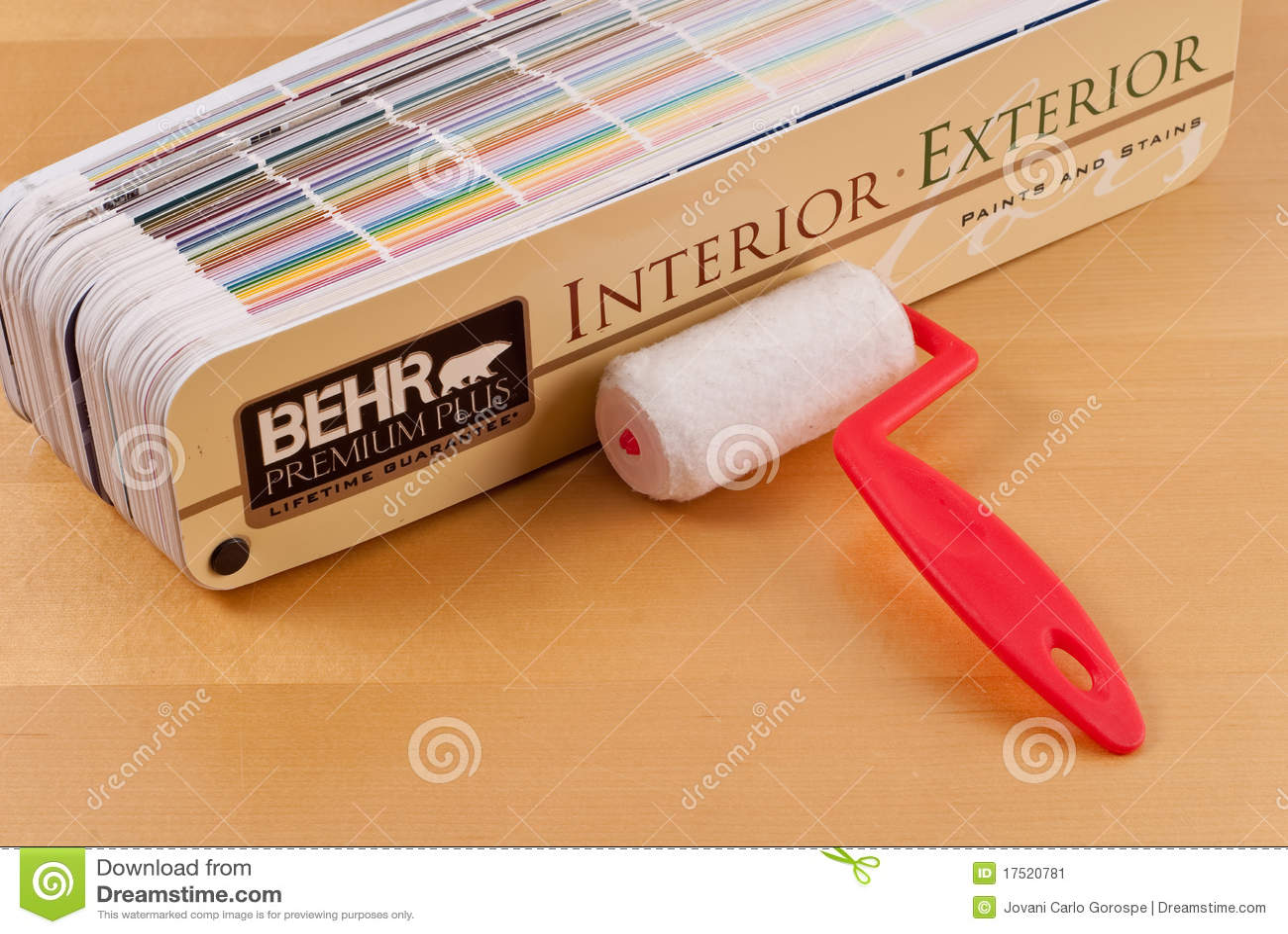 Behr Premium Plus Paint Samples Editorial Photo Image Of Home Decorate 17520781