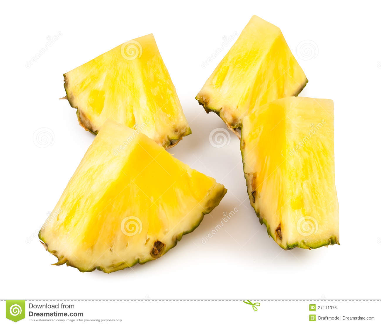 Bei pezzi dell ananas