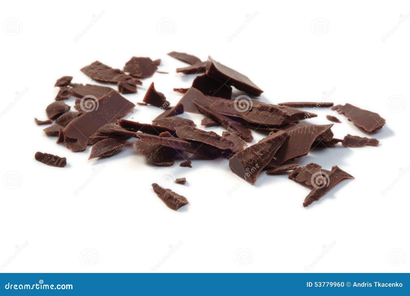 Bei pezzi scuri del cioccolato