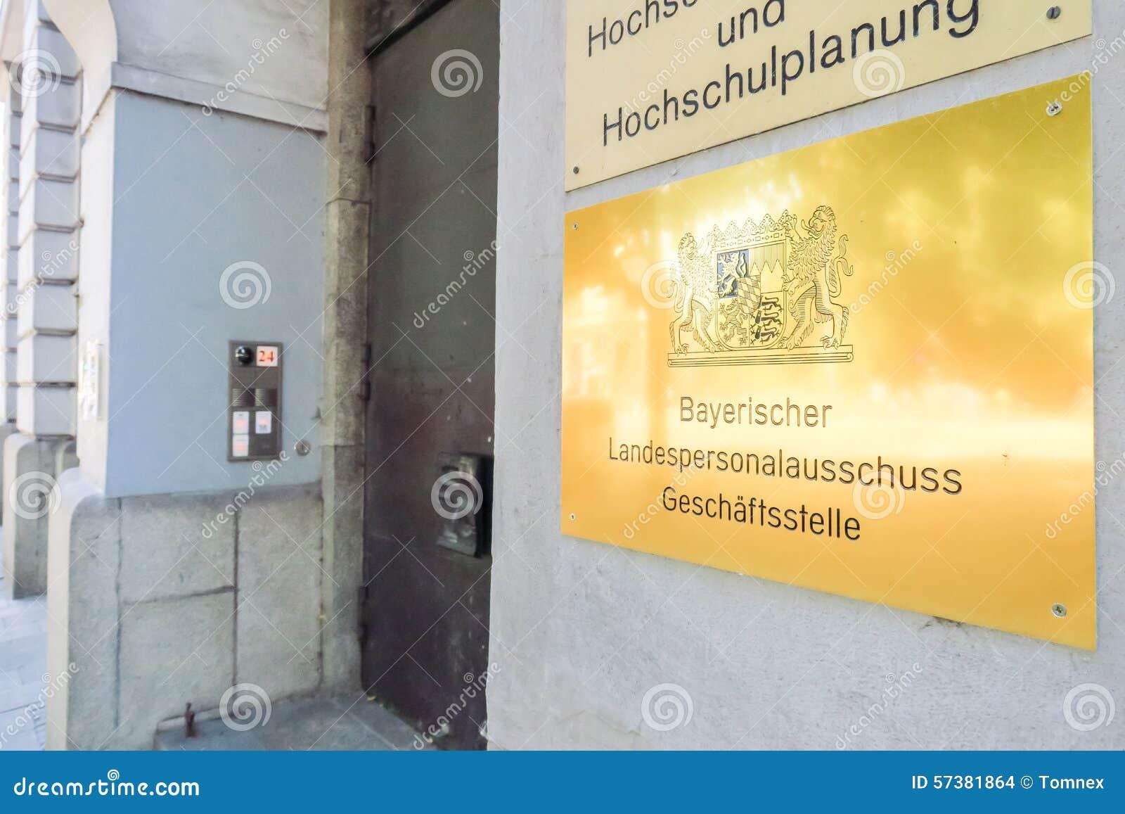 Beierse het personeelscommissie van de staat