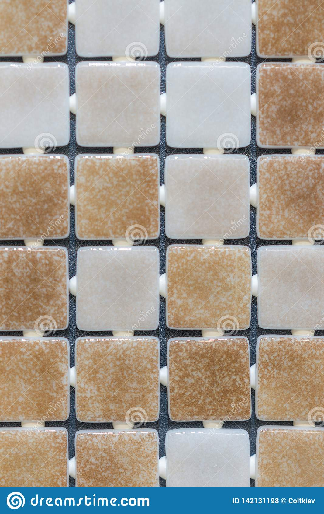 Beige Abstract Mosaic Background Abstract Square Pixel