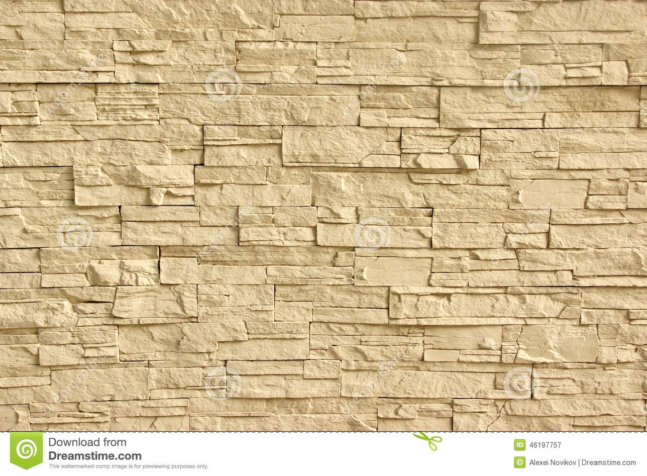 Beige Artificial Stone Wall Stock Image Image Of Rough
