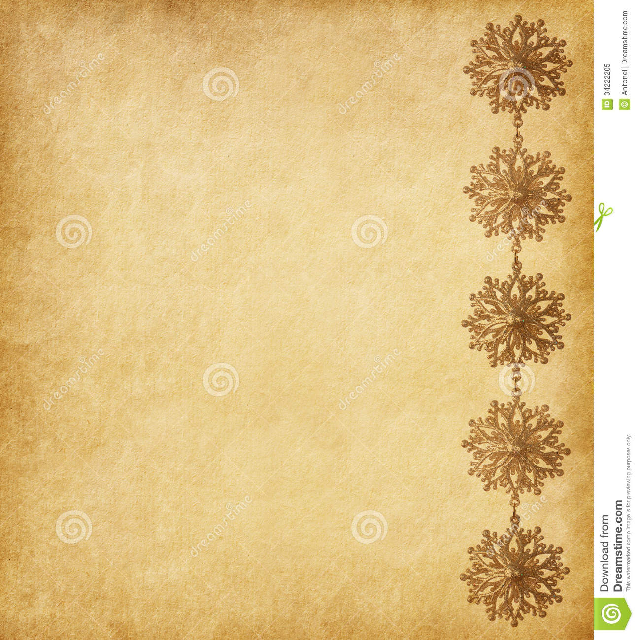 Beige Background Decorated With Snowflakes Stock Image